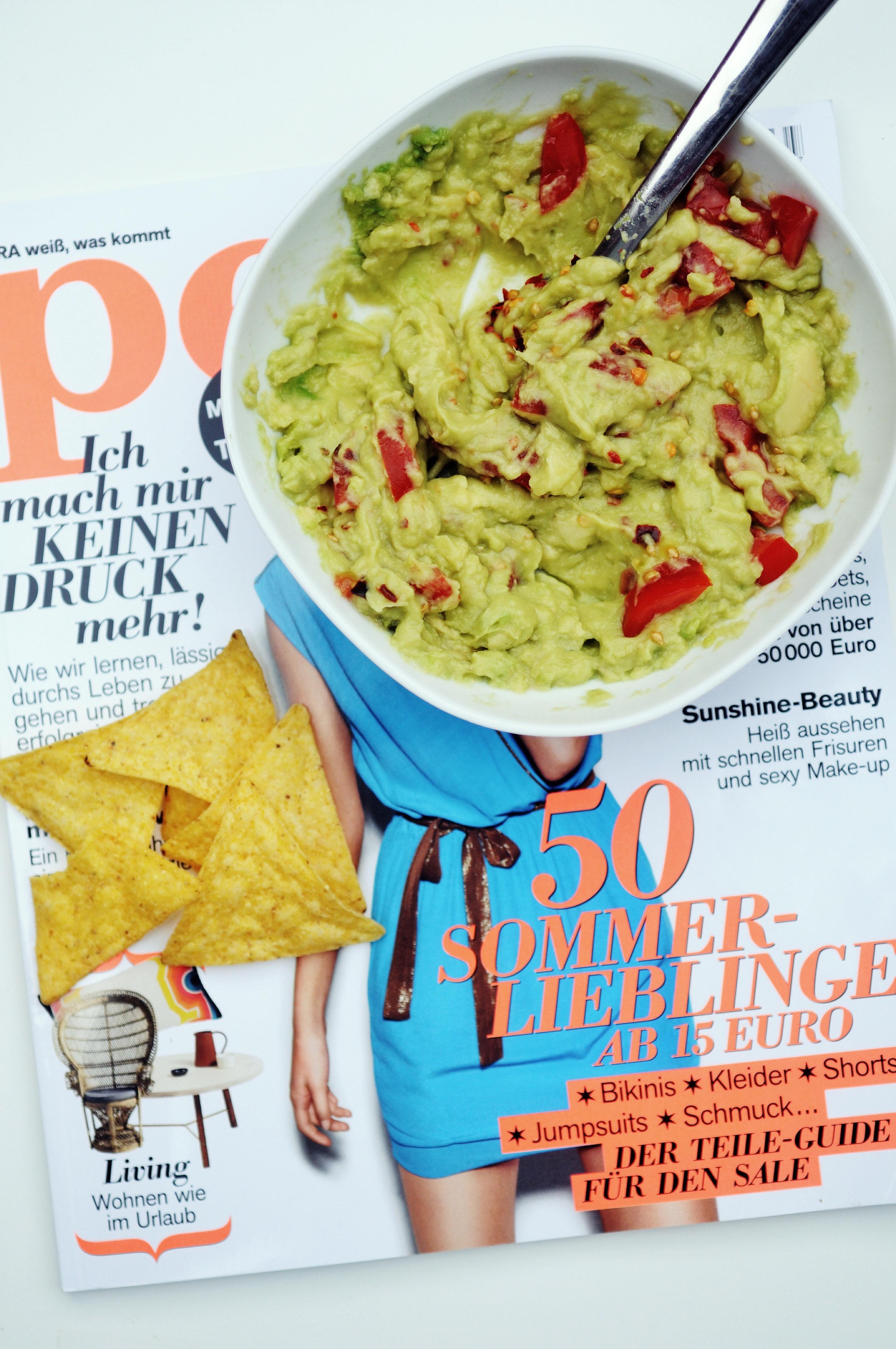 Guacamole und die Zeitschrift petra