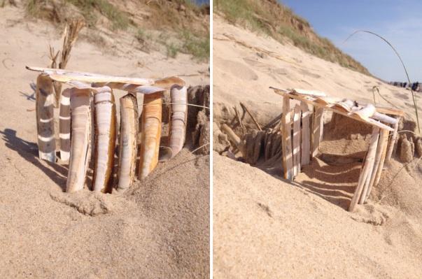 Strandhaus aus Muscheln