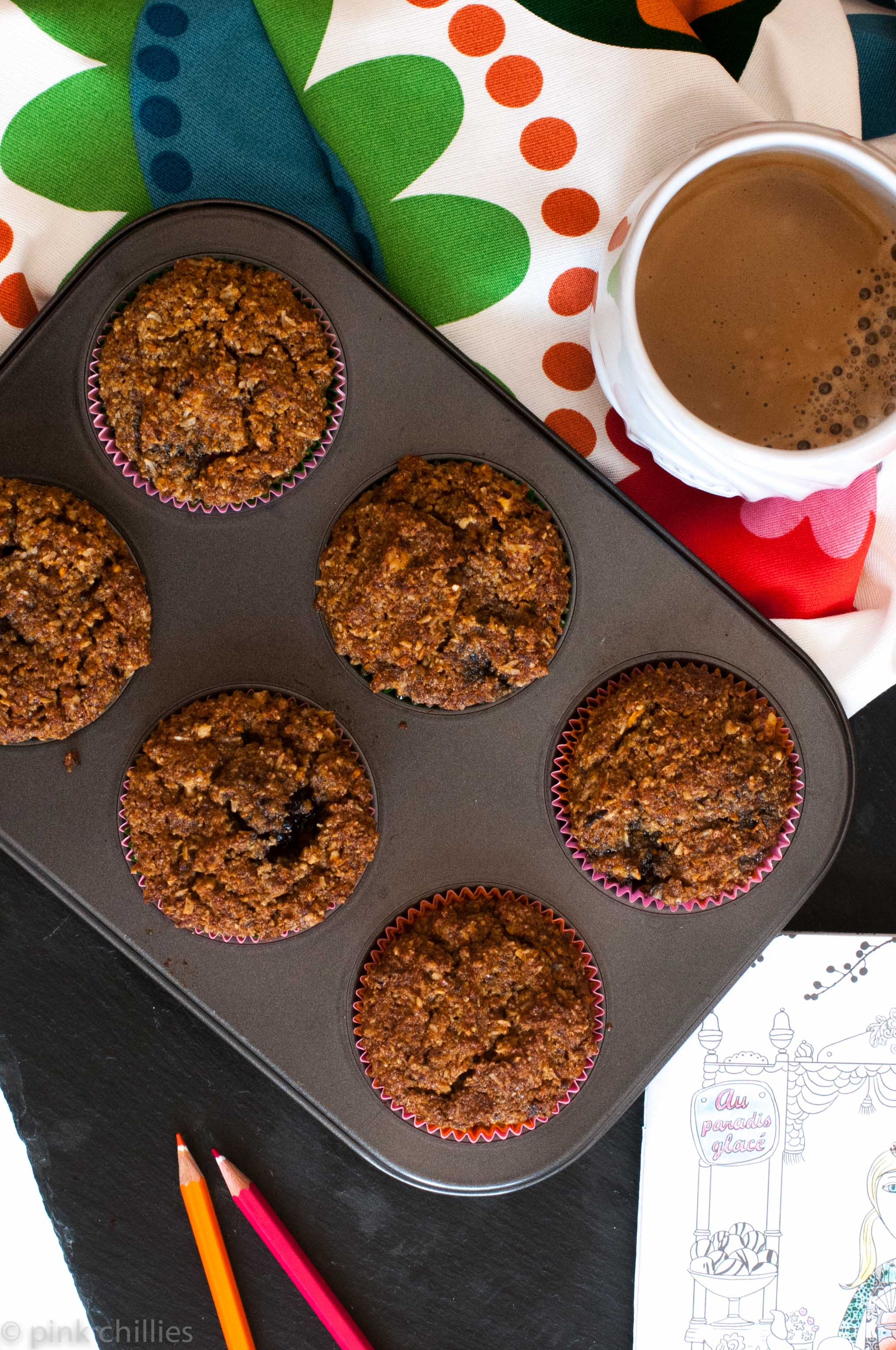 Carrots Coconut Muffins