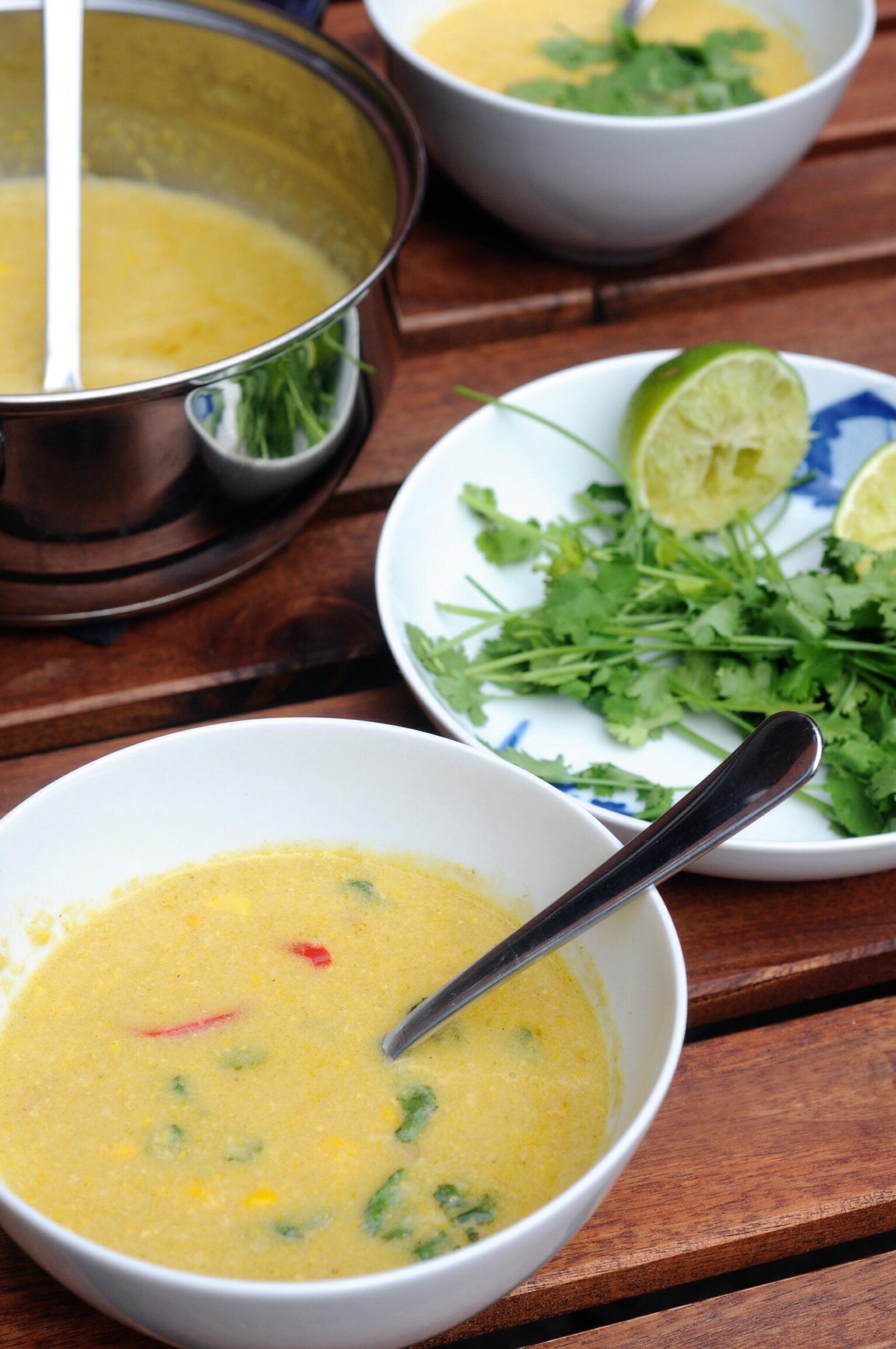 Mais Curry Thai Suppe