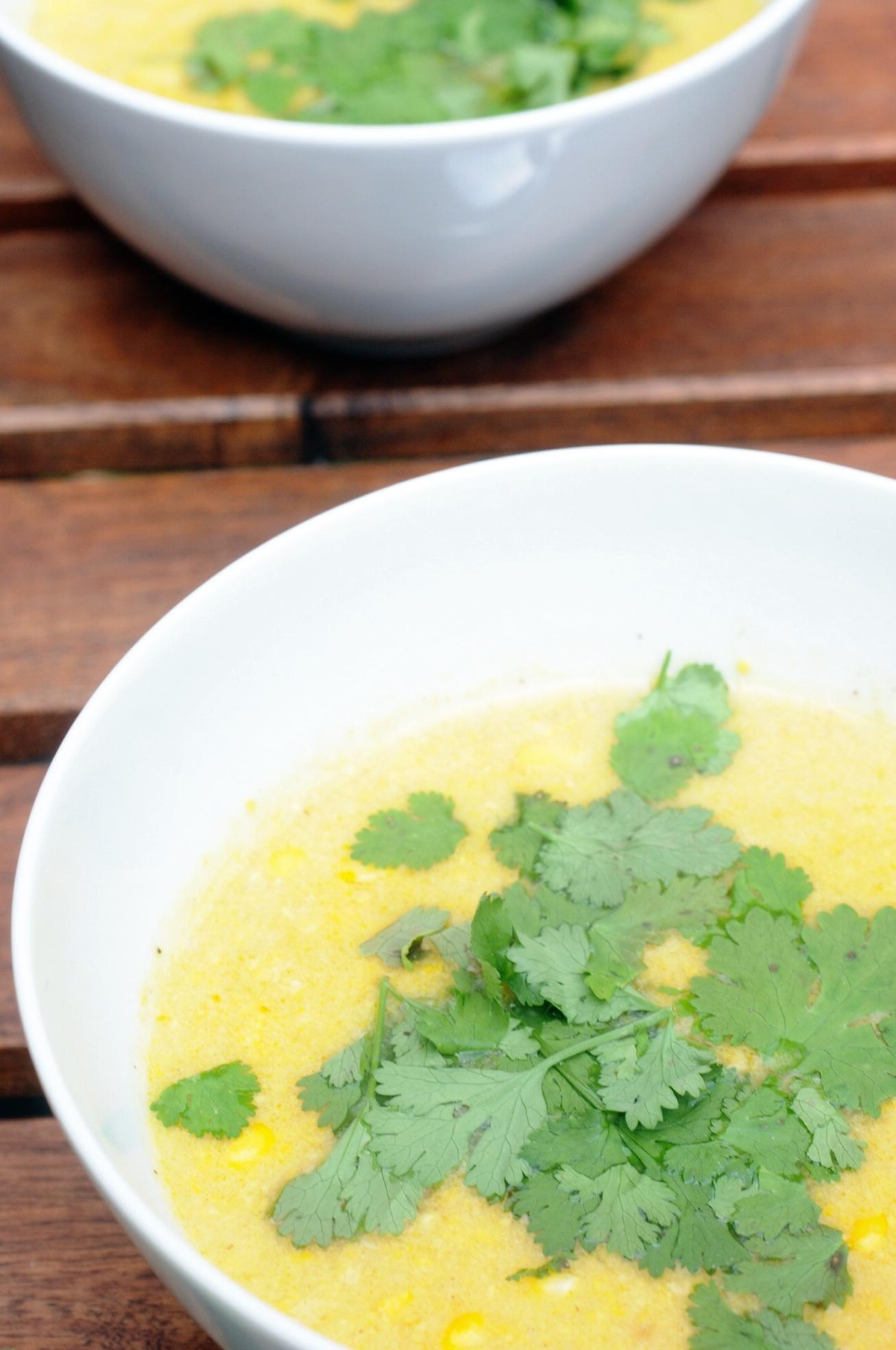 Mais Thai curry Suppe