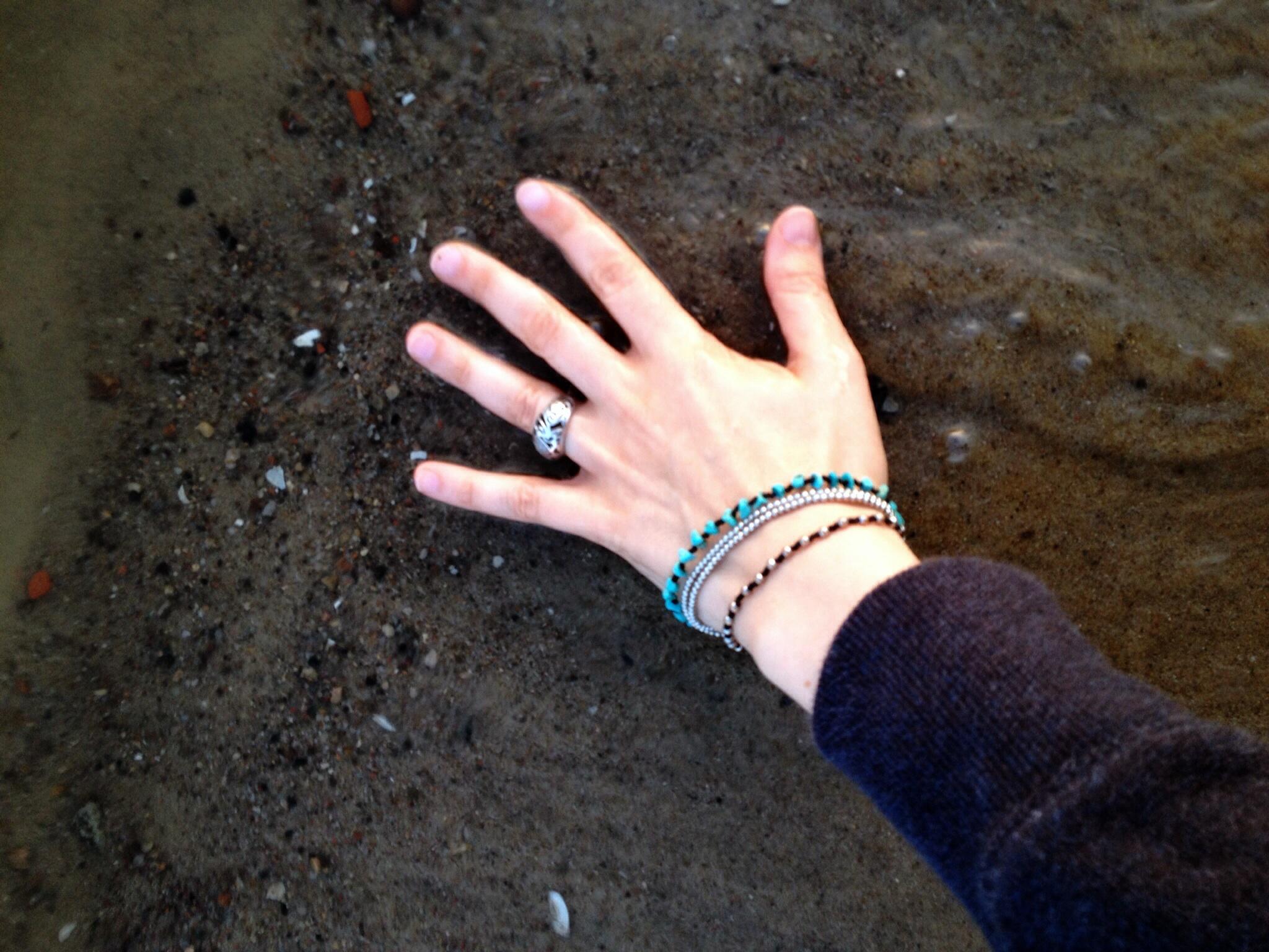 Hand in Elbe