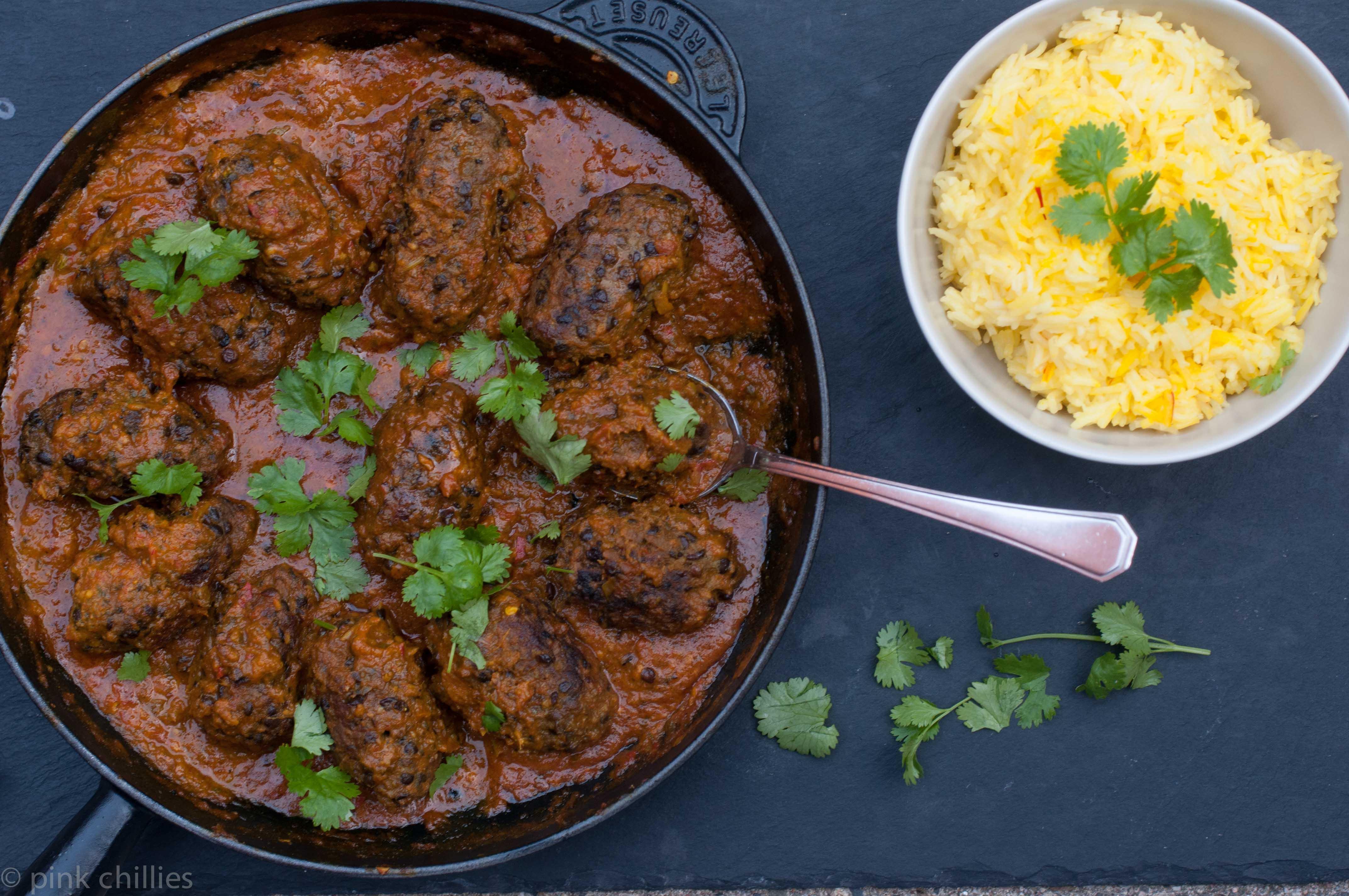 Curry Linsen Hackbällchen glutenfrei