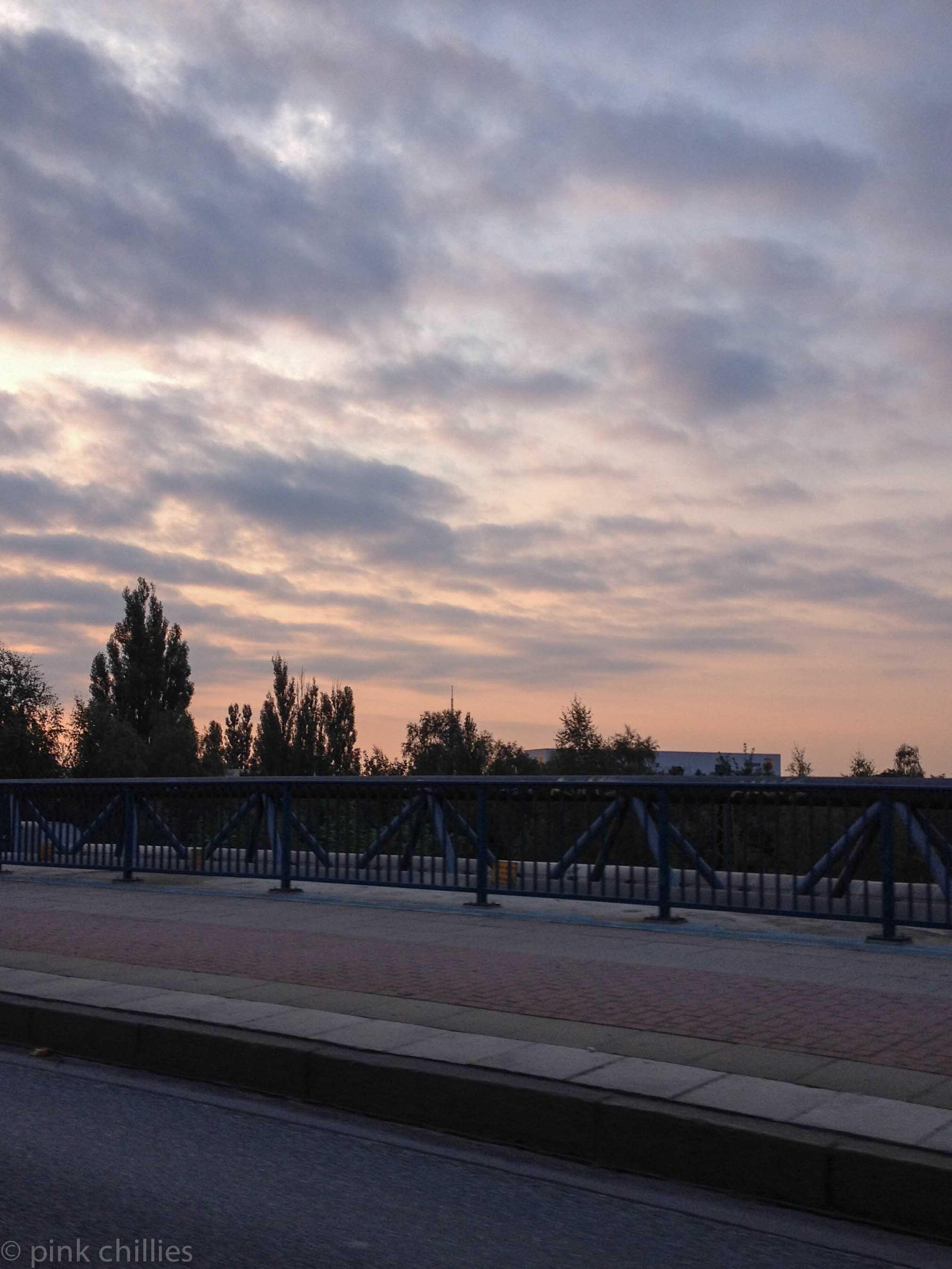 Morgenröte über Hamburg
