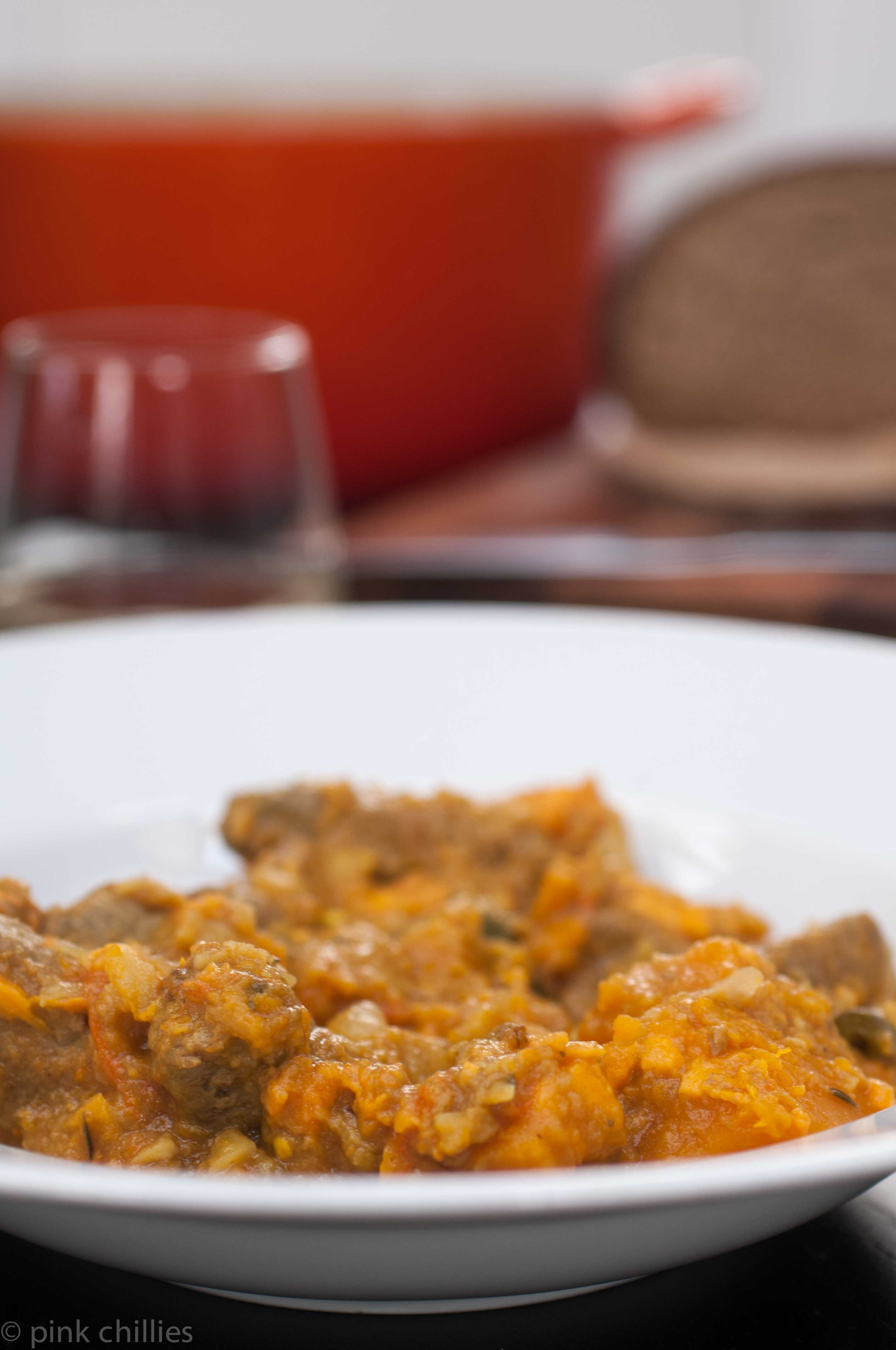 Kürbis-Süßkartoffel-Eintopf
