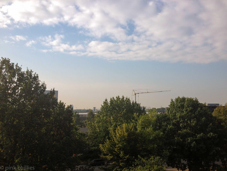 Über dem Dächern von Hamburg