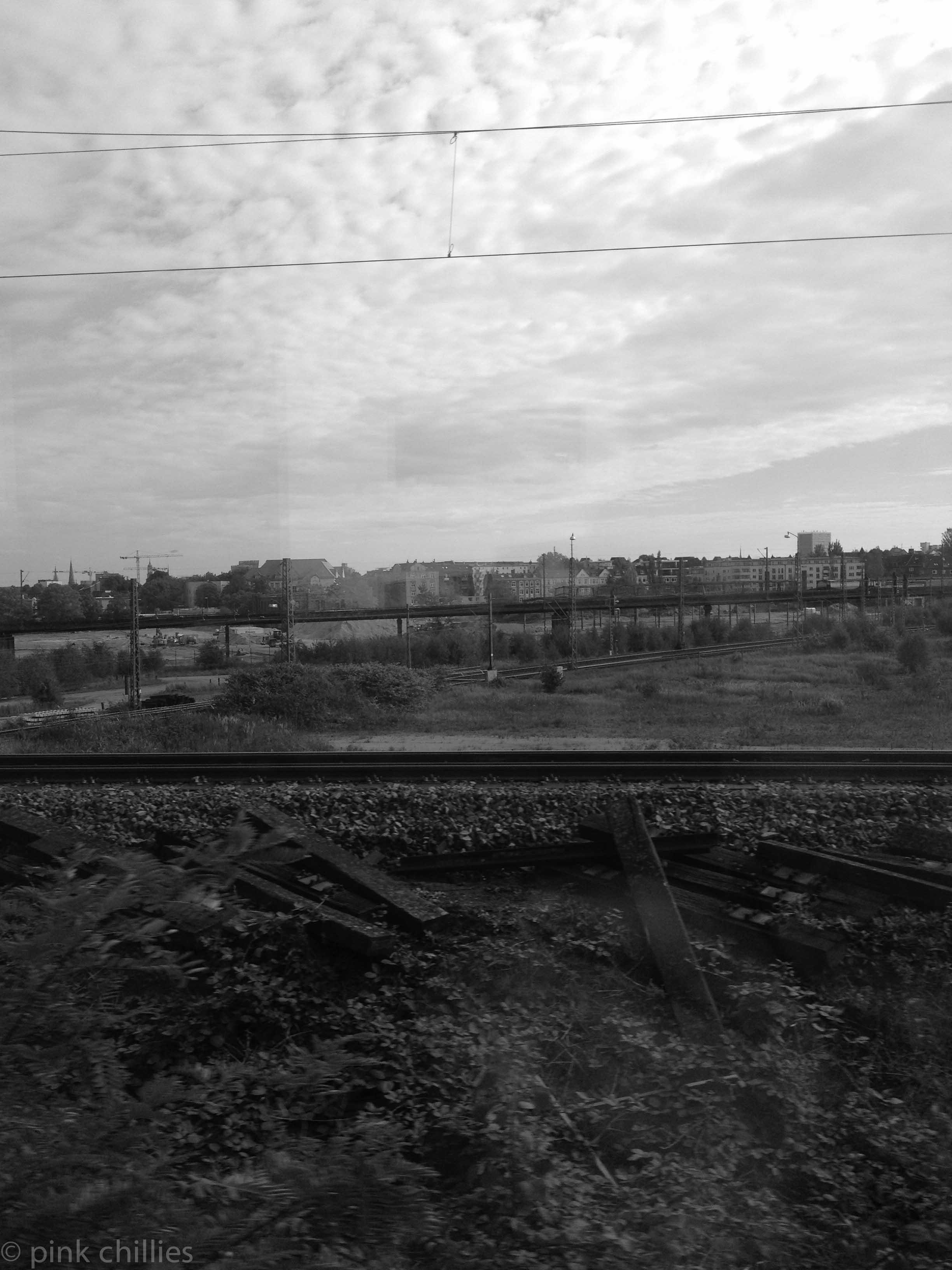 Gleise beim Bahnhof