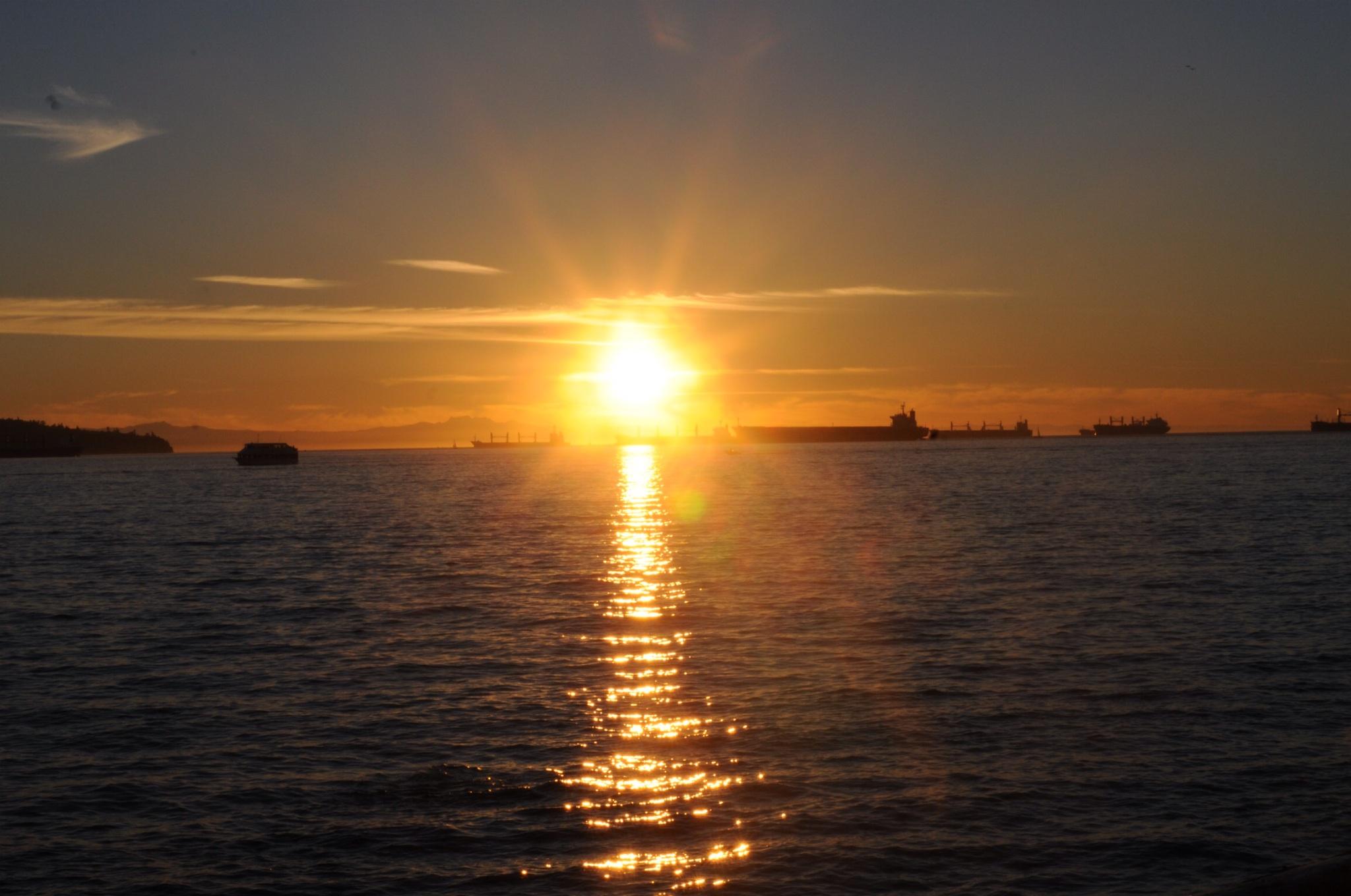 Sonnenuntergang Vancouver