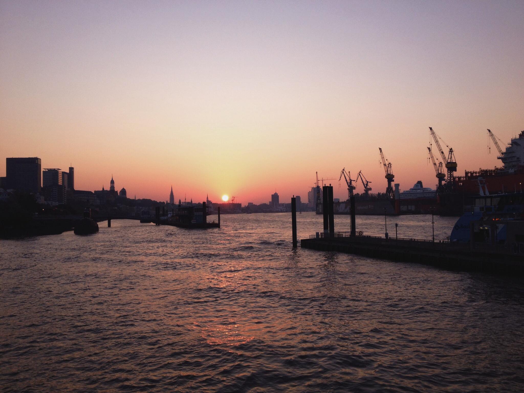 Sonnenaufgang am Fischmarkt
