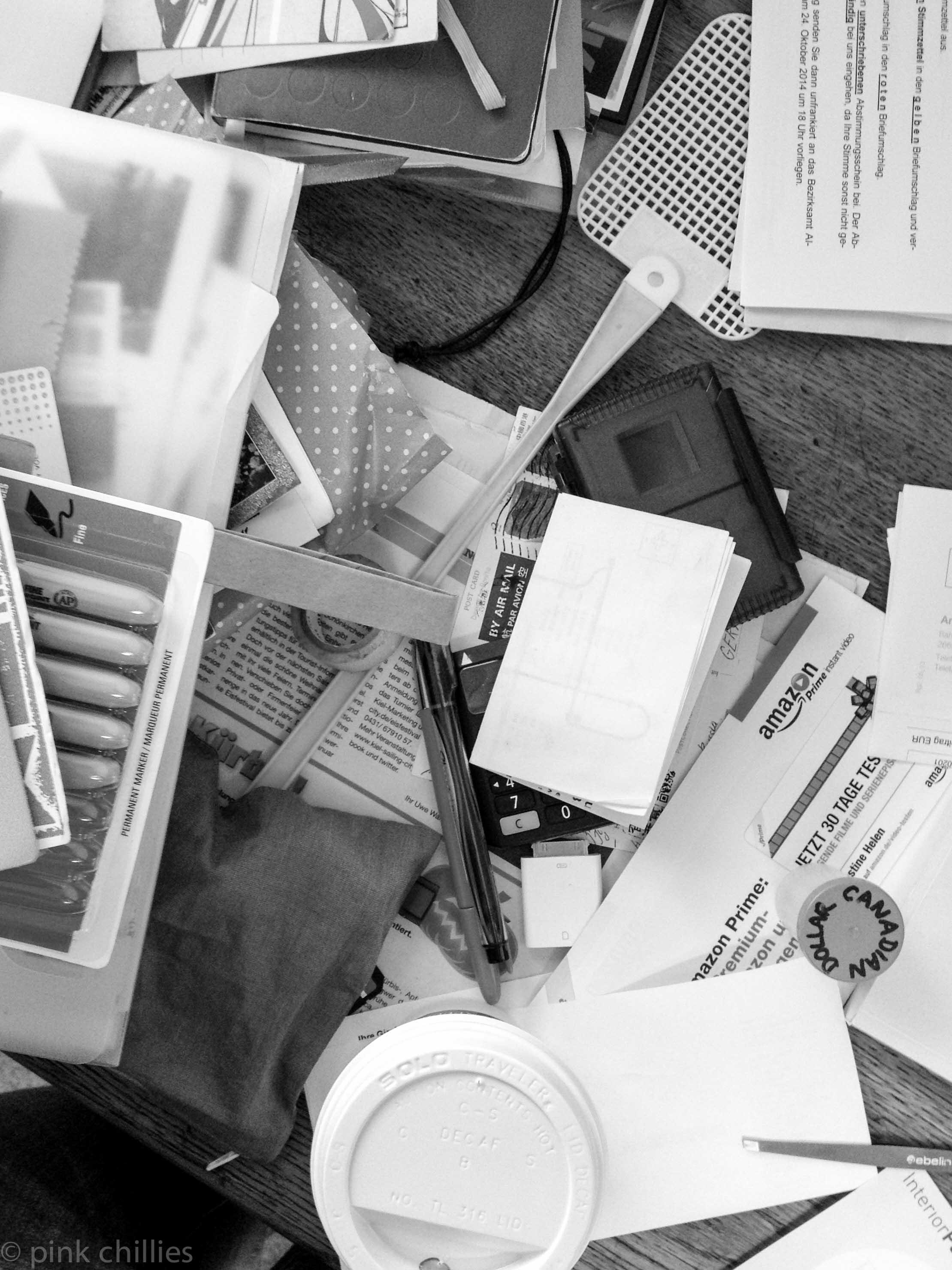 Schreibtisch Chaos