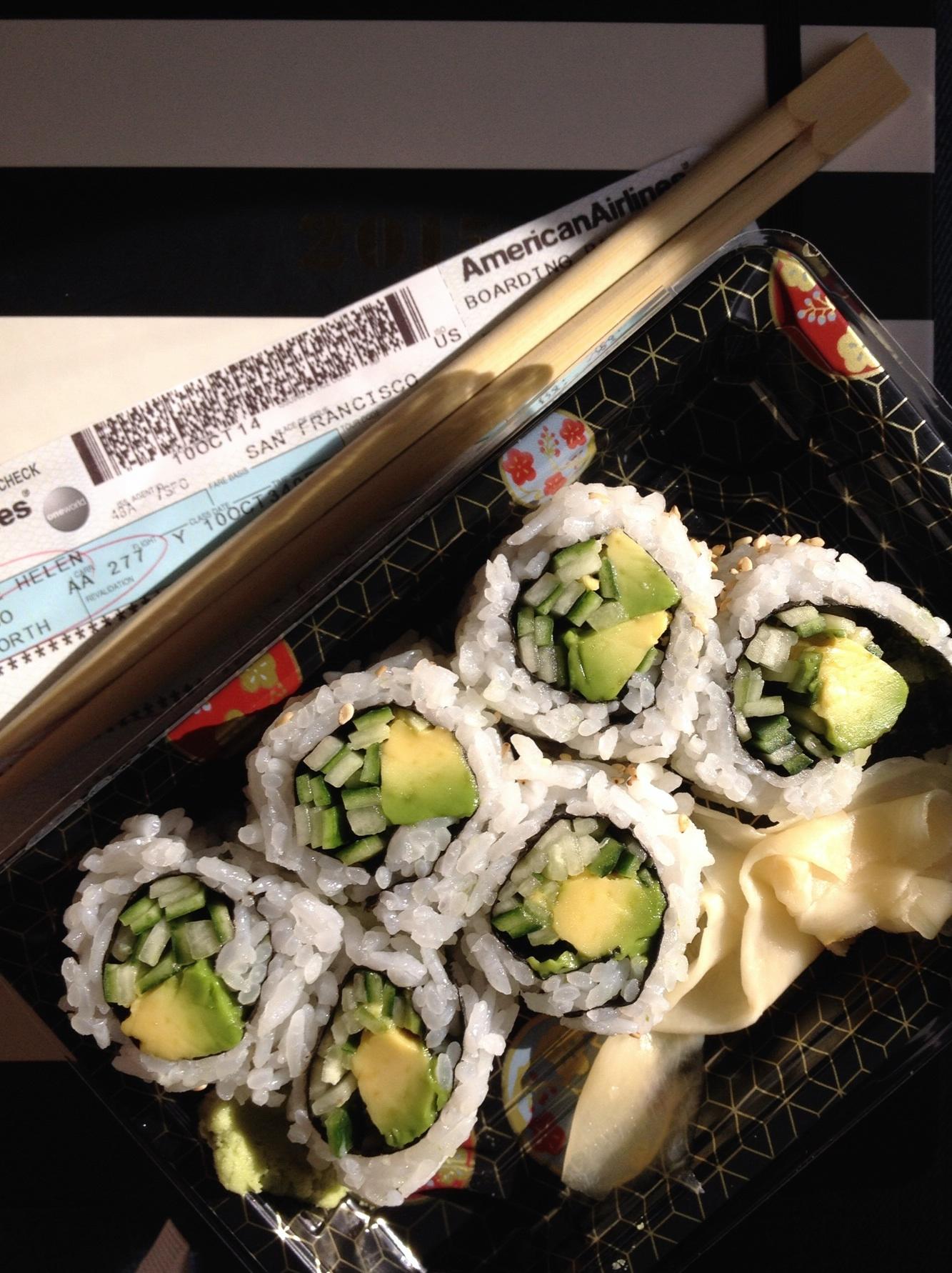 Sushi im Flugzeug