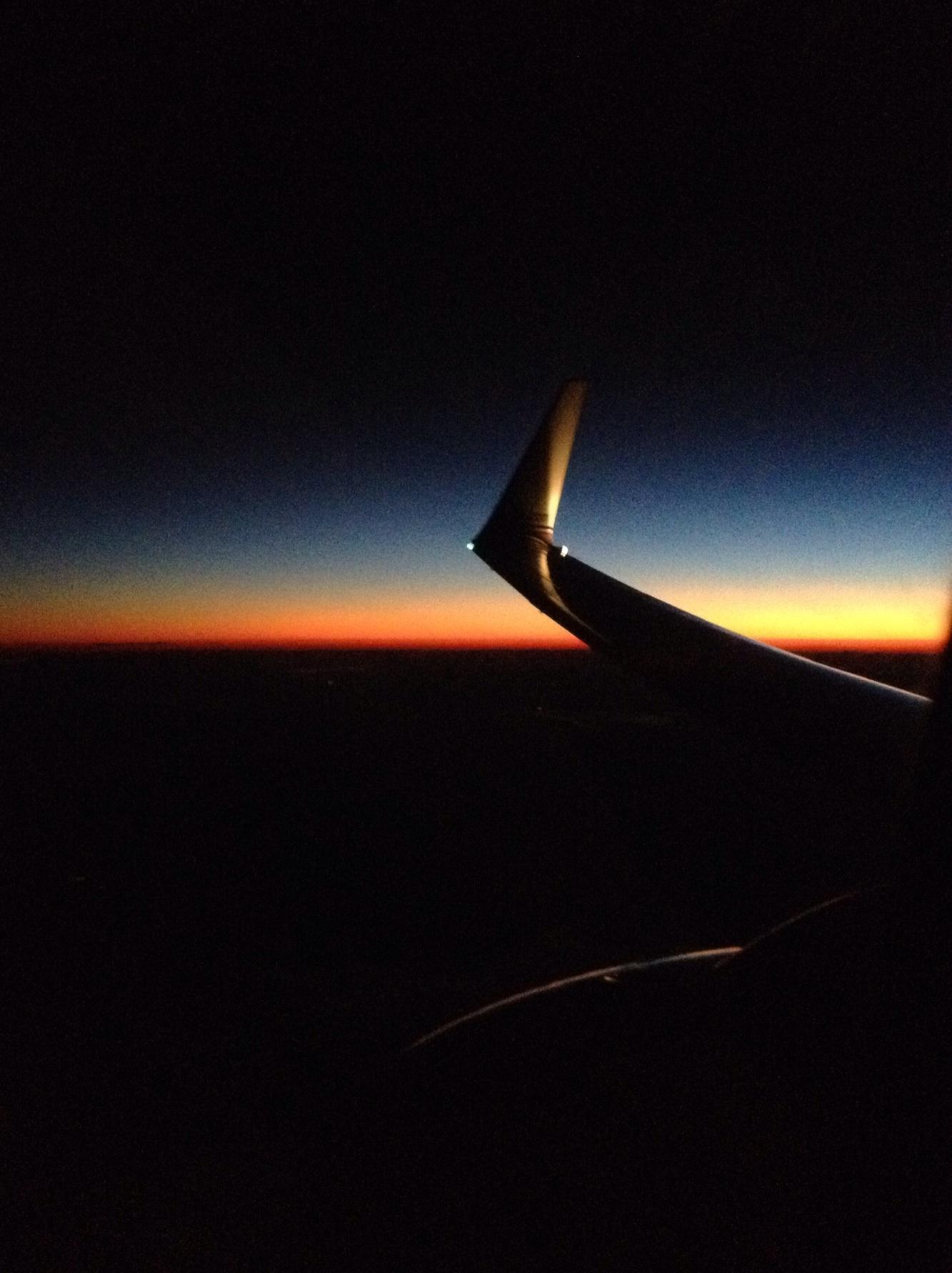 Abend aus dem Flugzeug