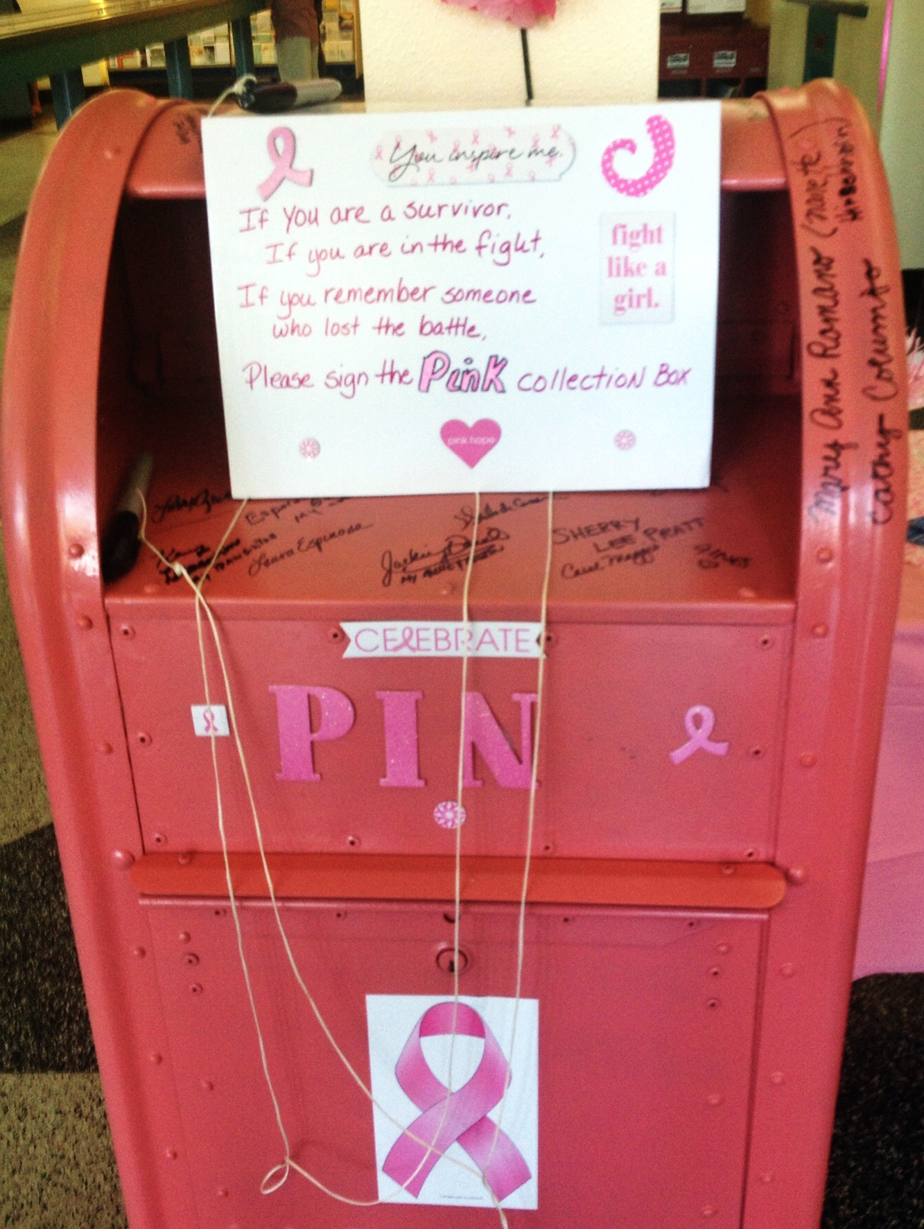 Pink Collection Box Post Office San Rafel