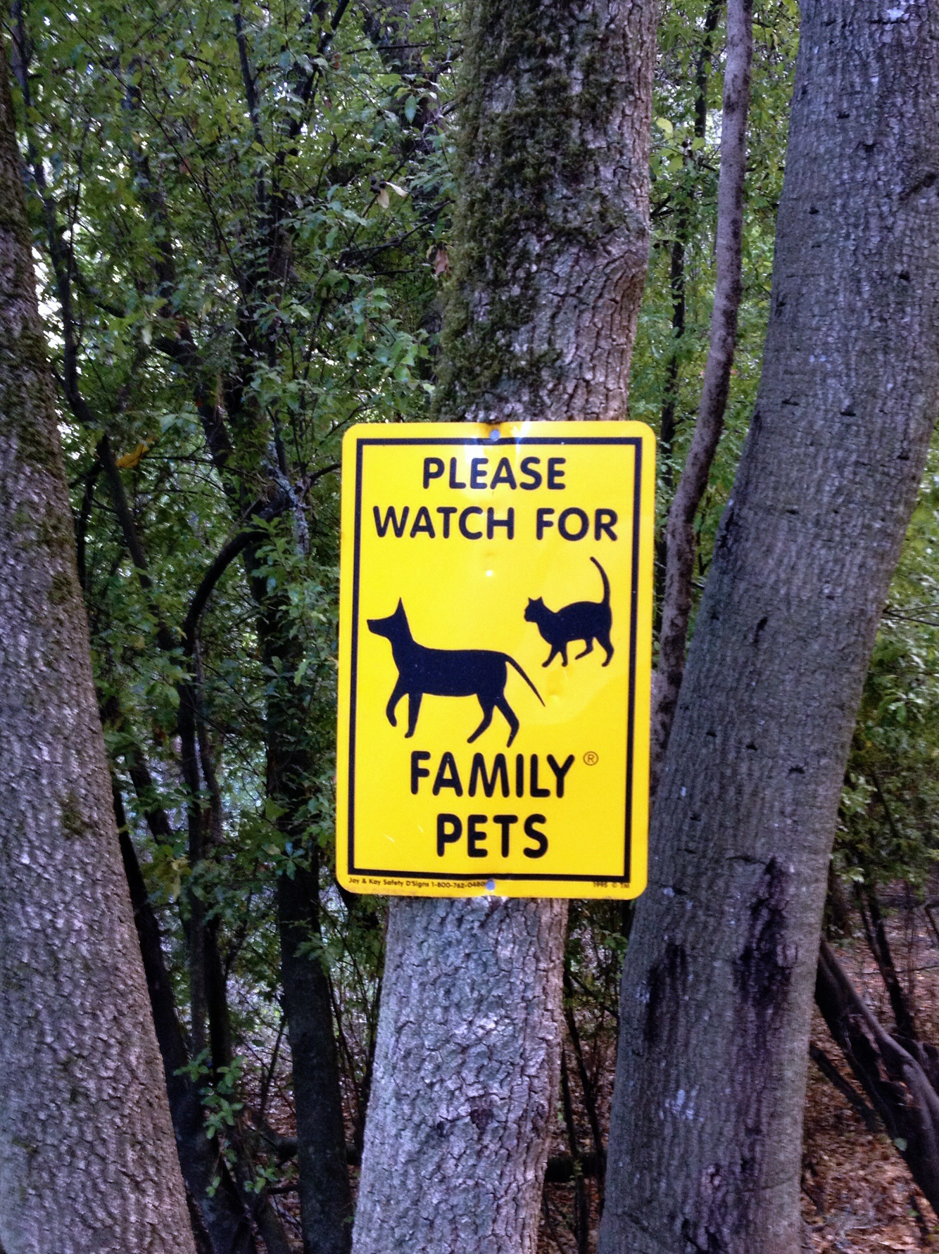 Verkehrzeichen Family Pets