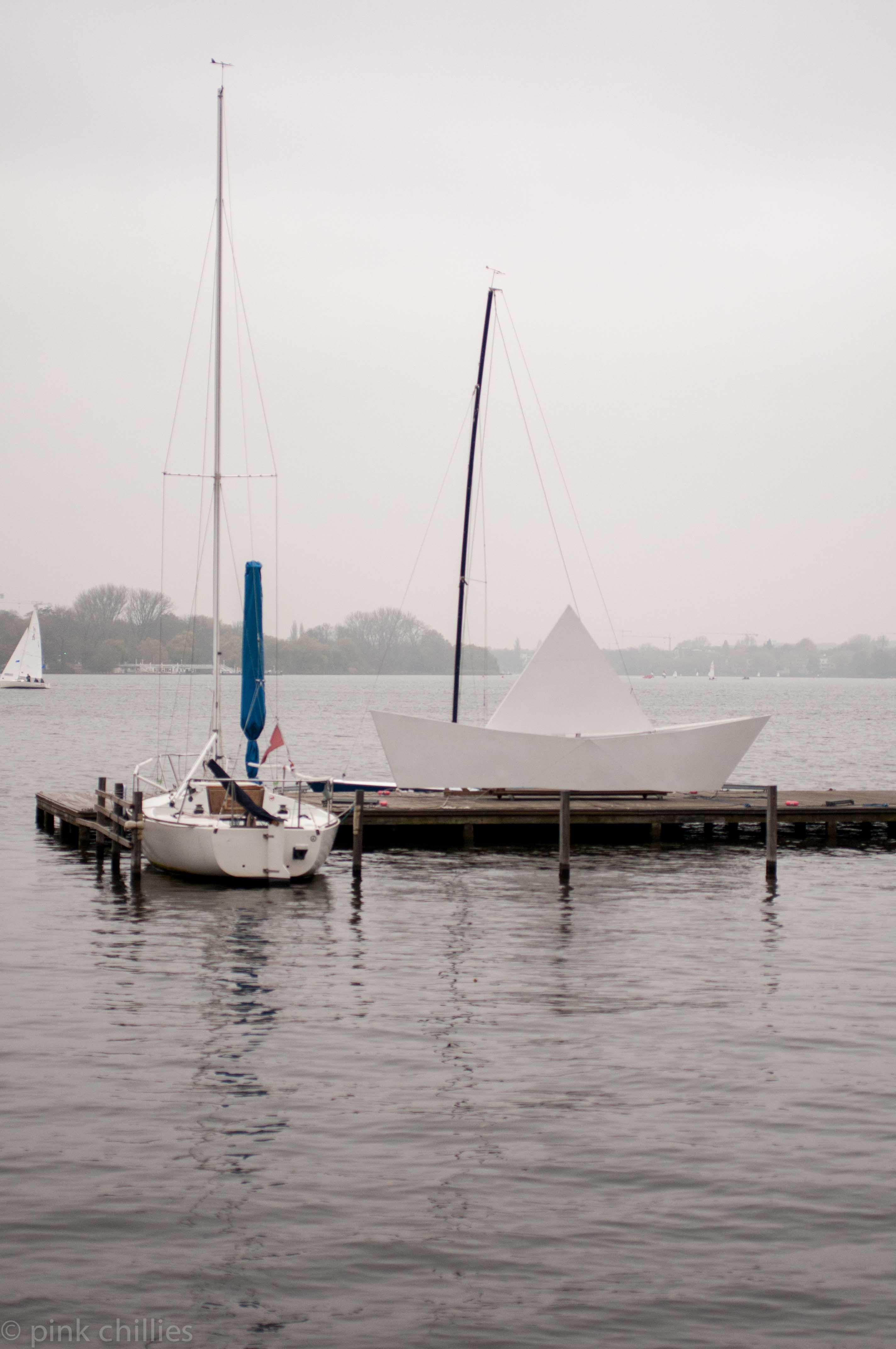 Segelboot auf Alster