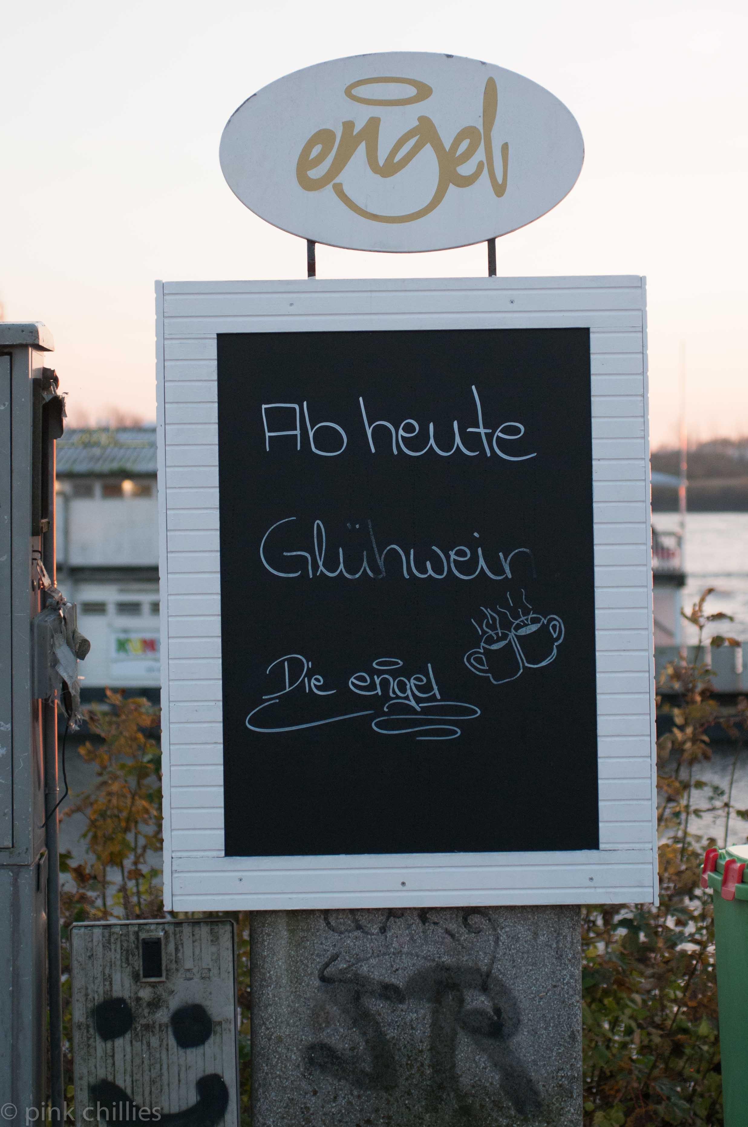 Teufelsbrück Cafe Engel Glühwein