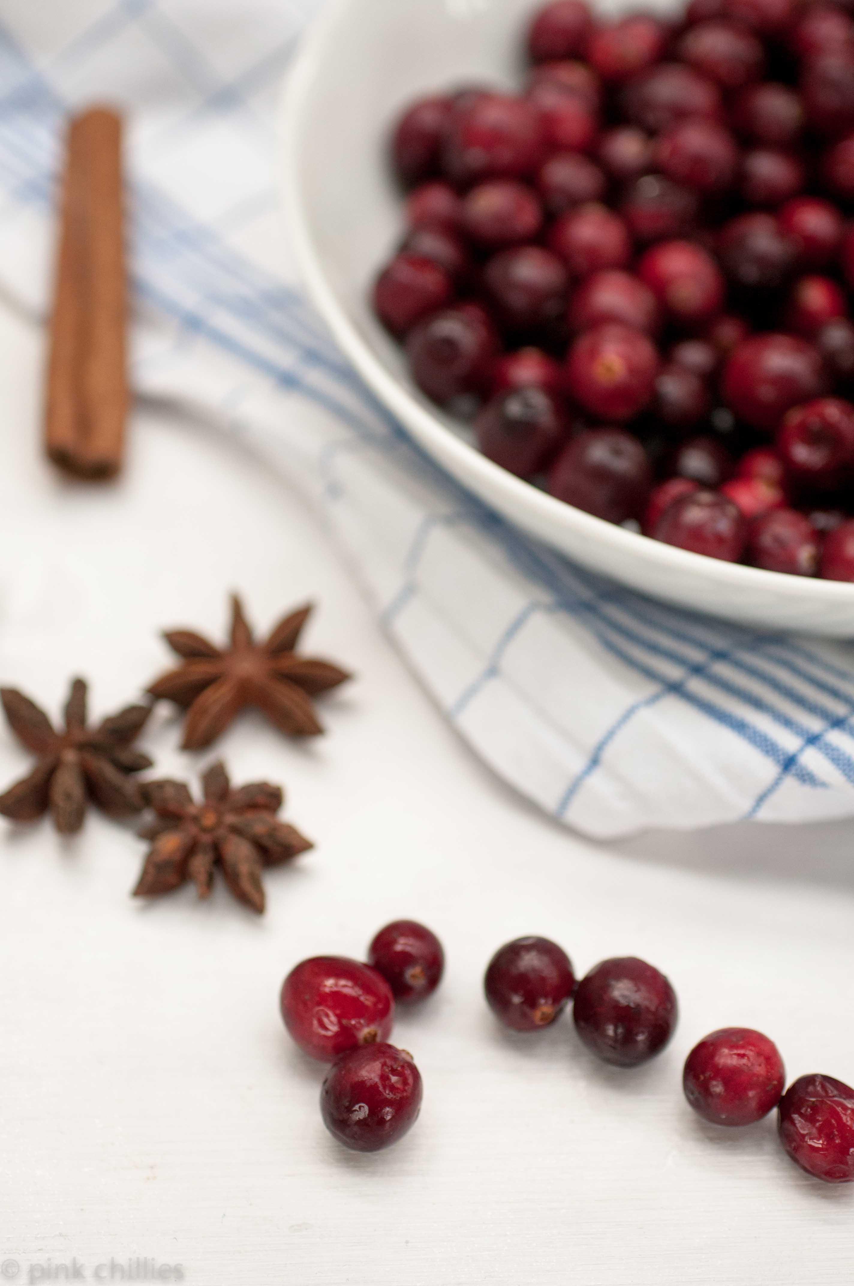 Milchreis mit Cranberry-Apfel-Soße