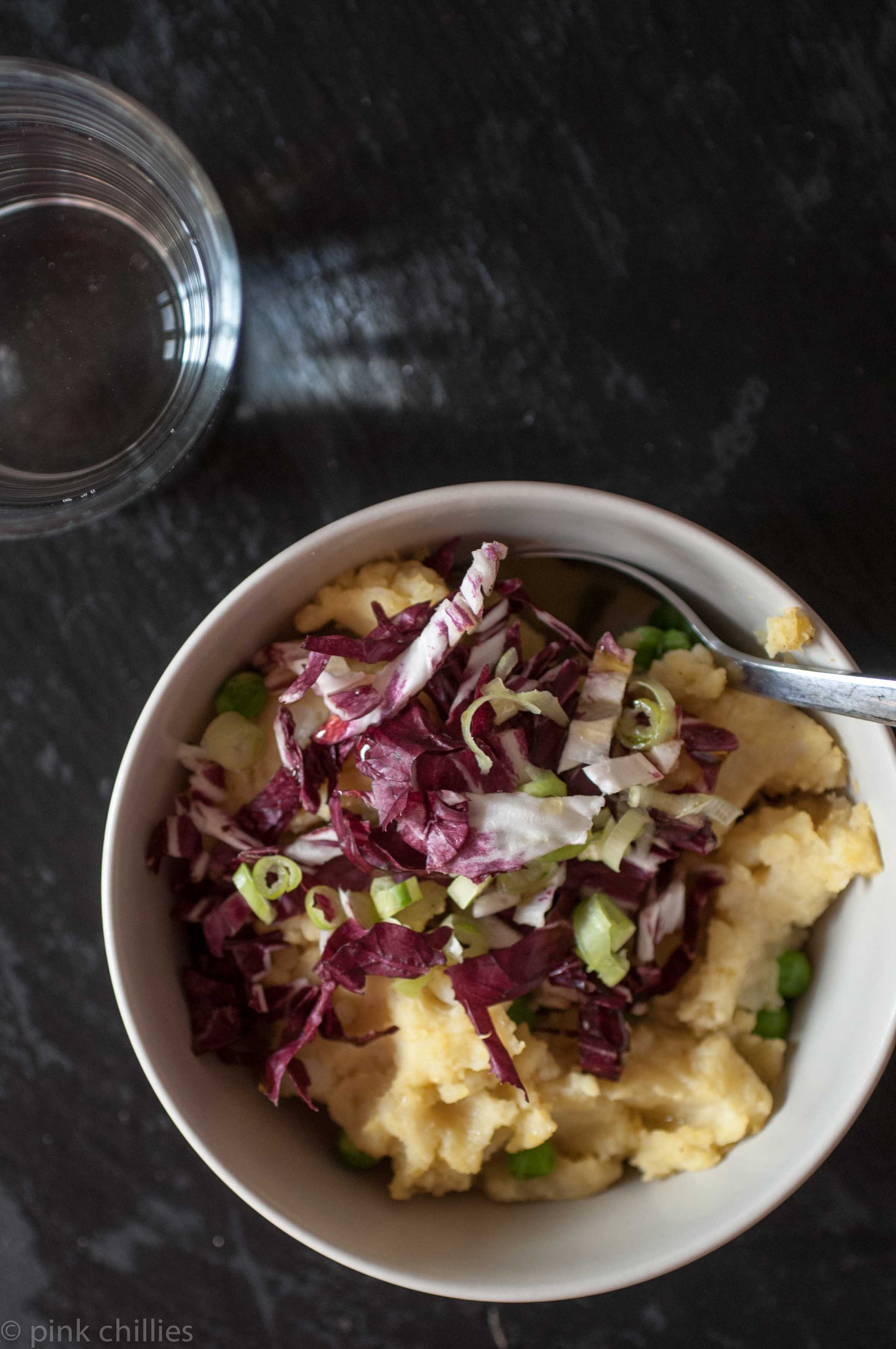 Resteessen Kartoffelstampfe