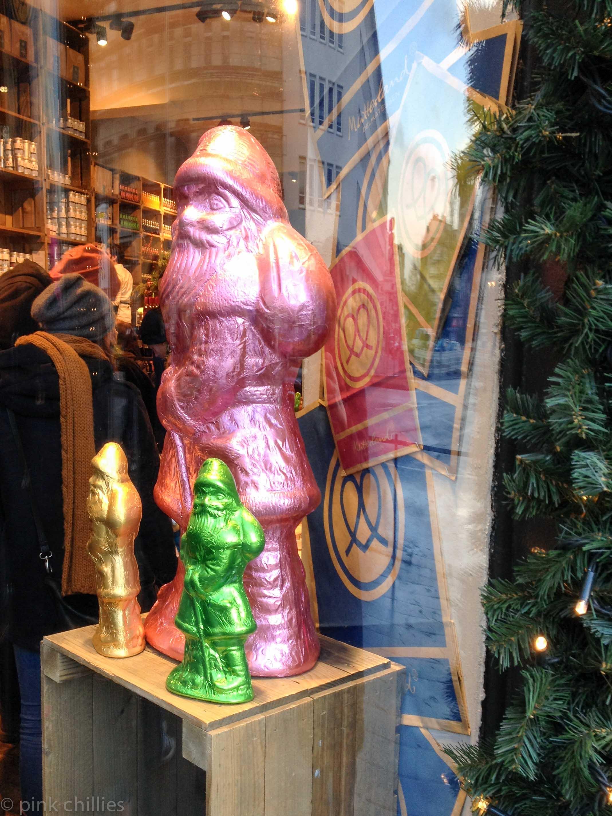 Schokoladenweihnachtsmänner
