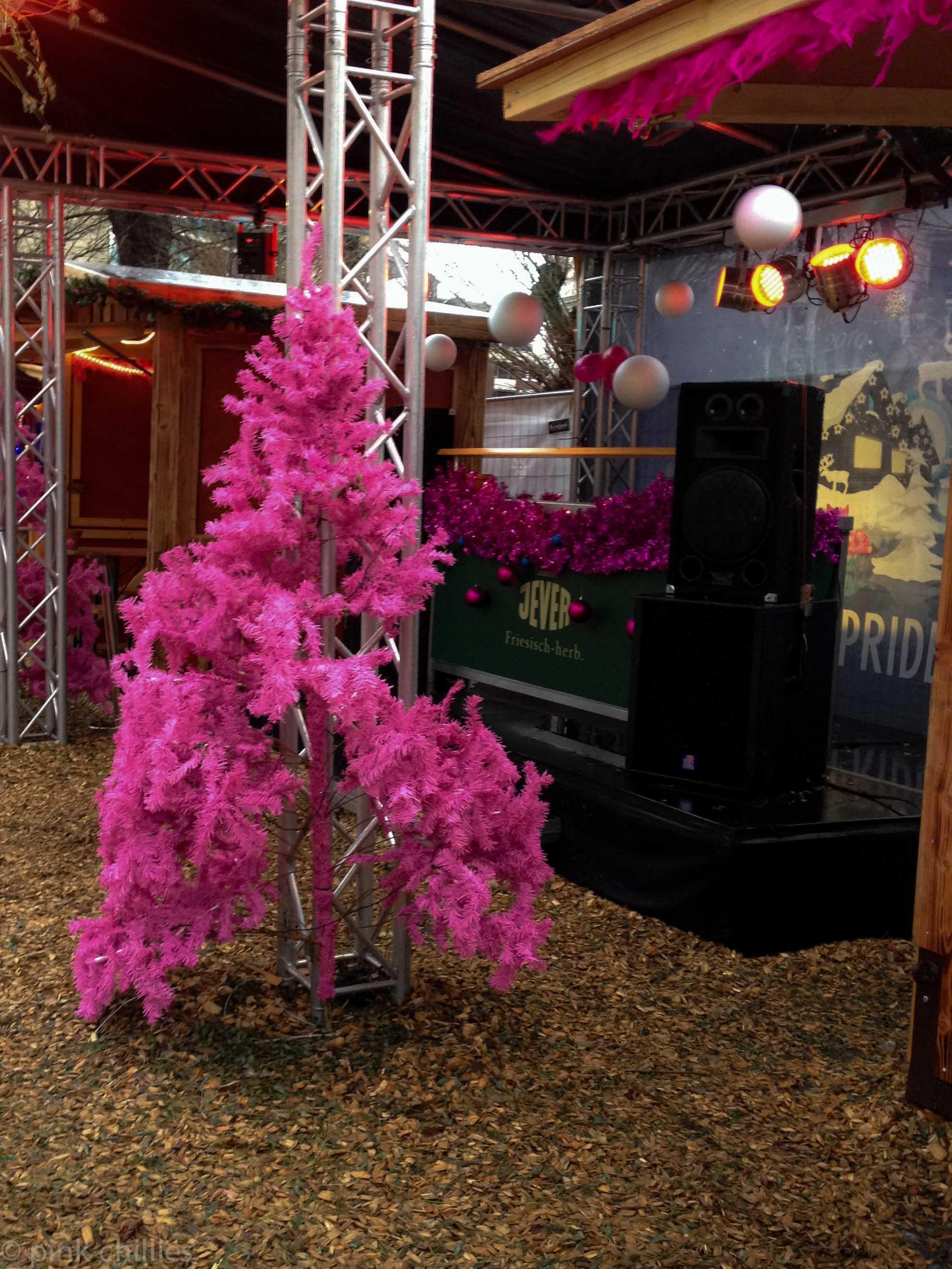 pinker Weihnachtsbaum