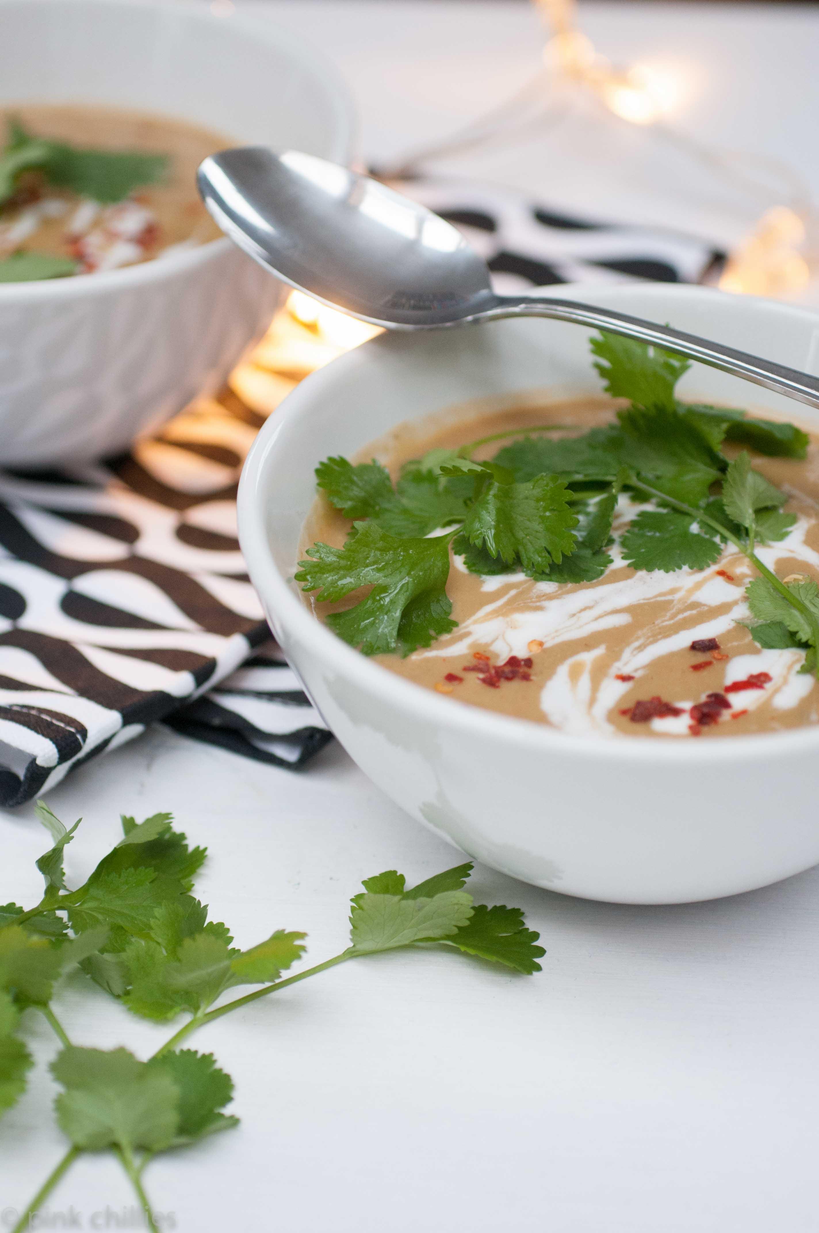 Auberginen Kichererbsen Suppe