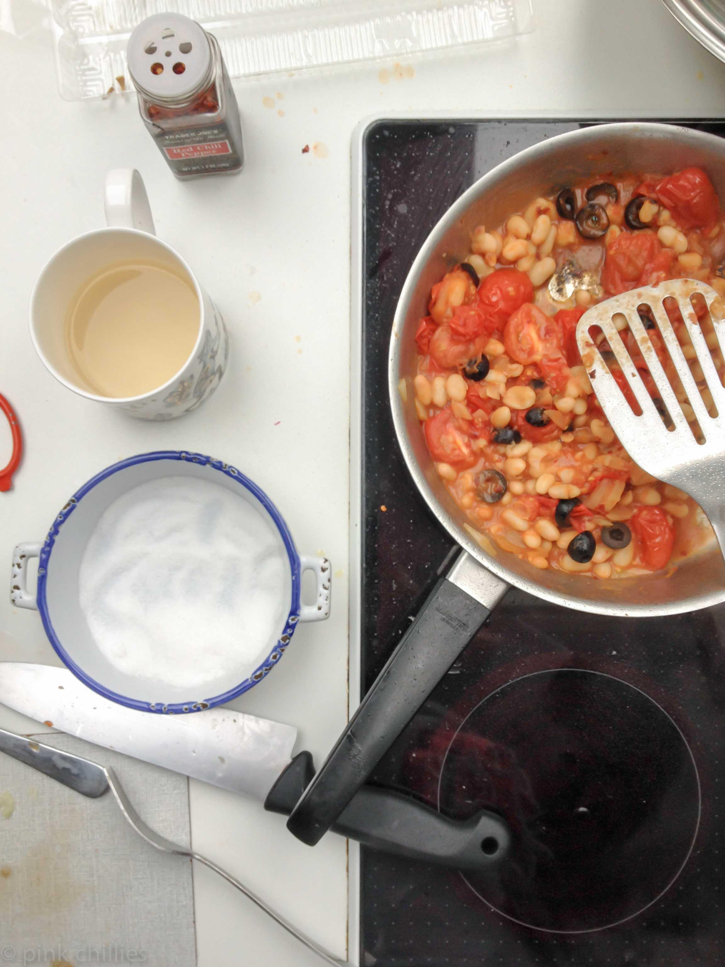 Mittagessen kochen