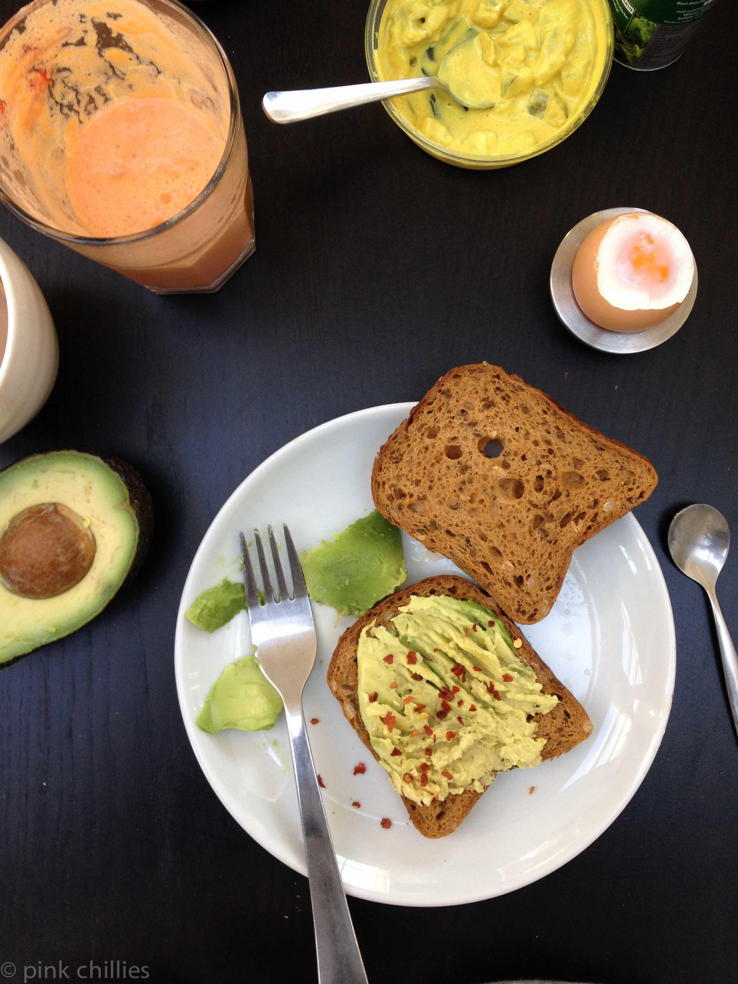 Avocado auf Toast