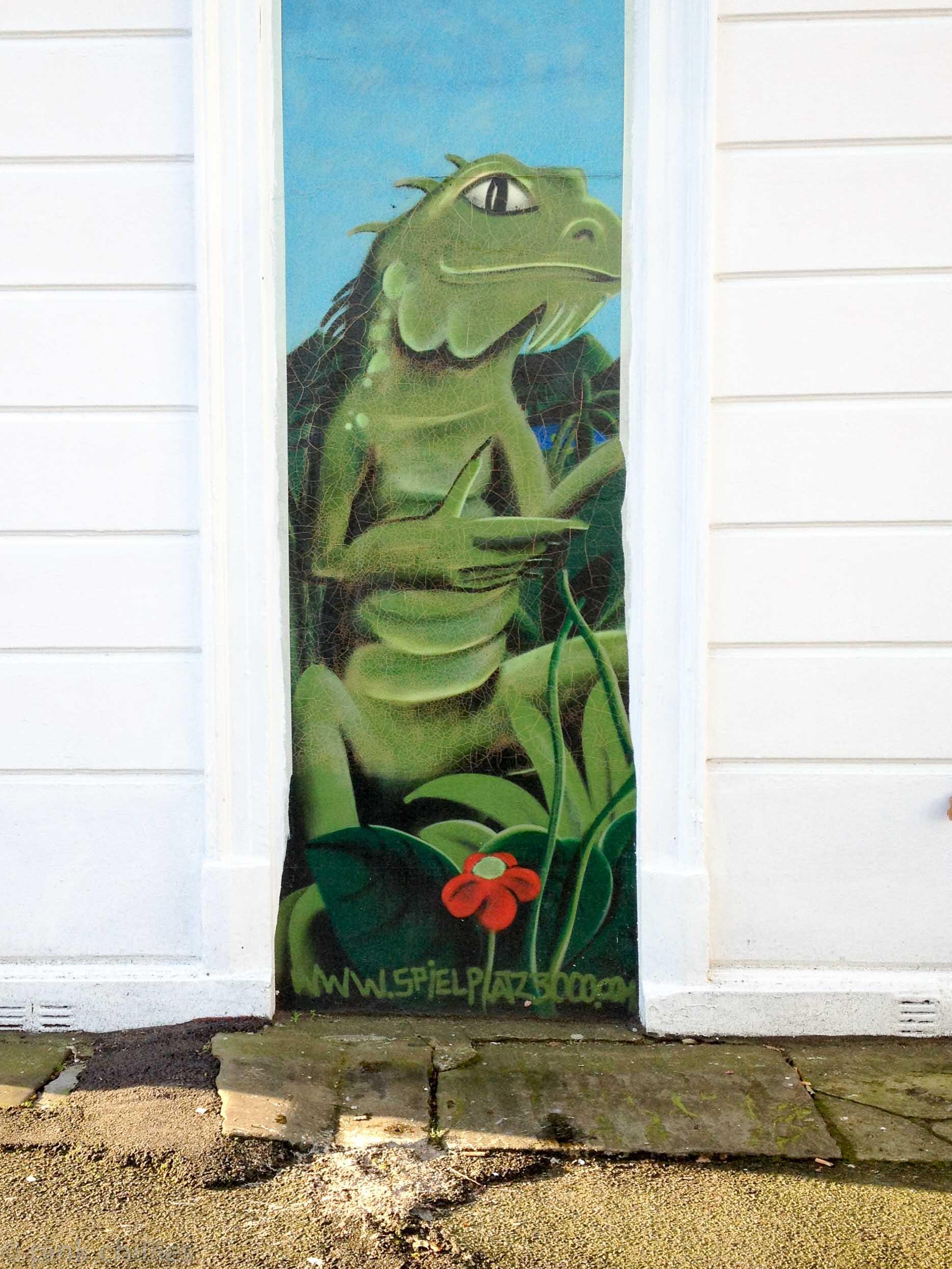 Wandmalerei Geko