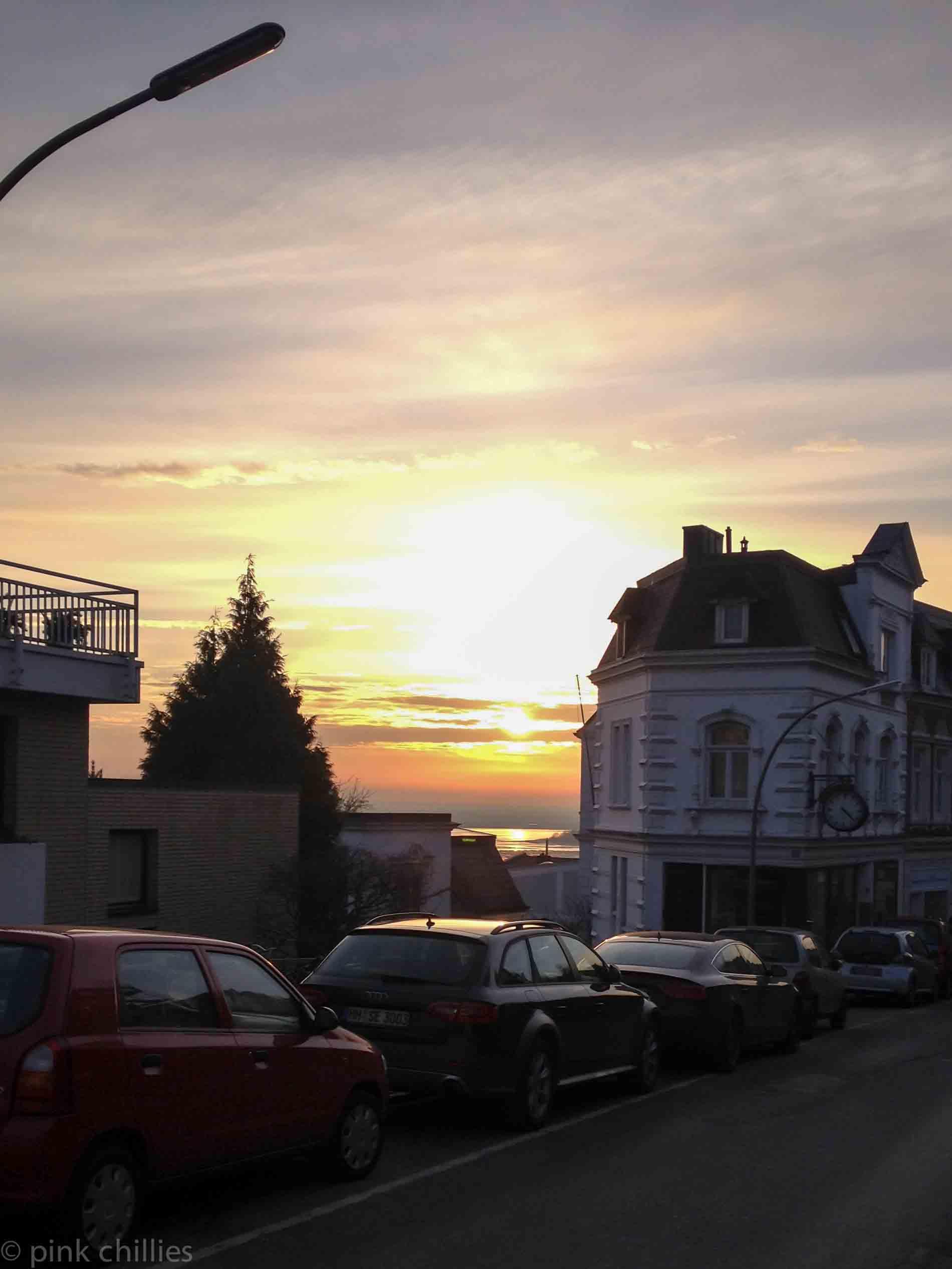 Sonnenuntergang in Blankenese