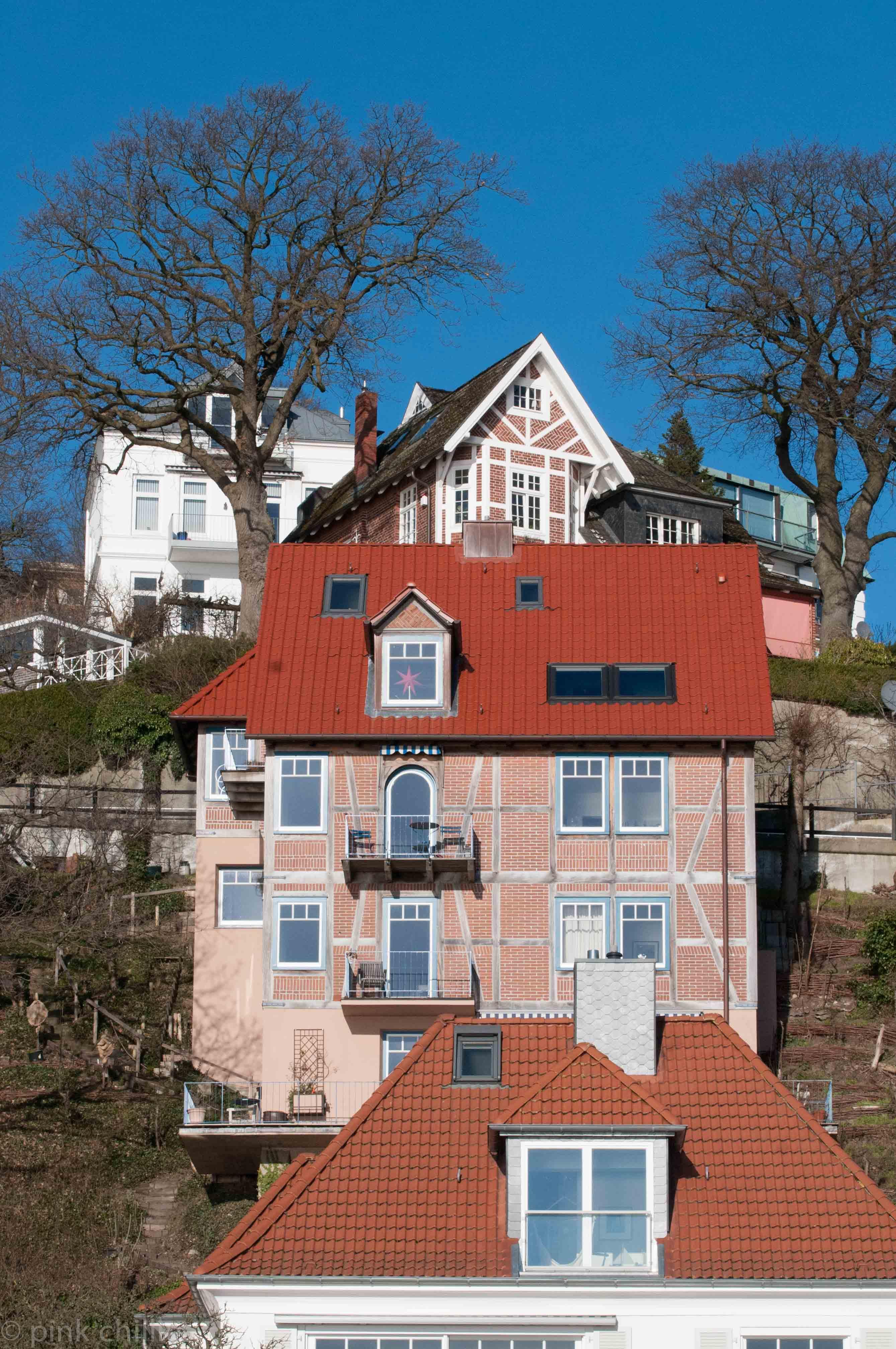 Blankenese Häuser am Hang