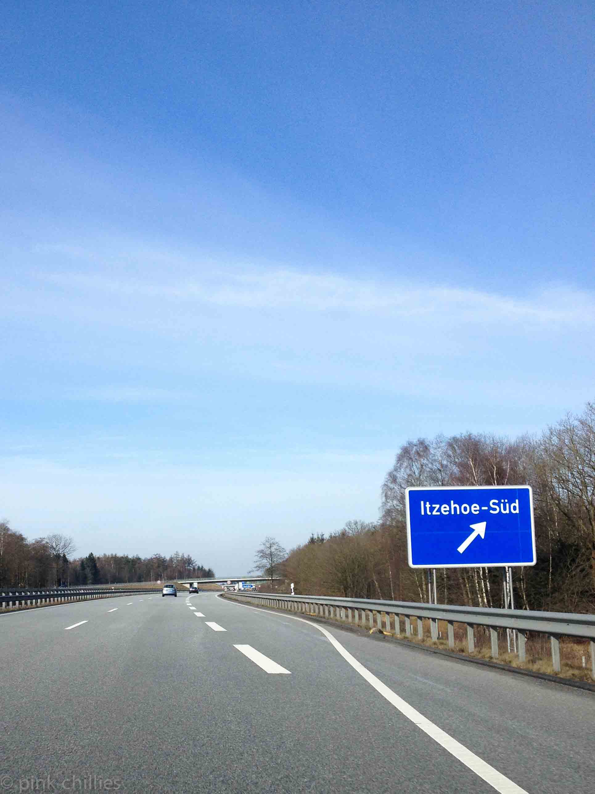 Autobahnabfahrt Itzehoe Süd