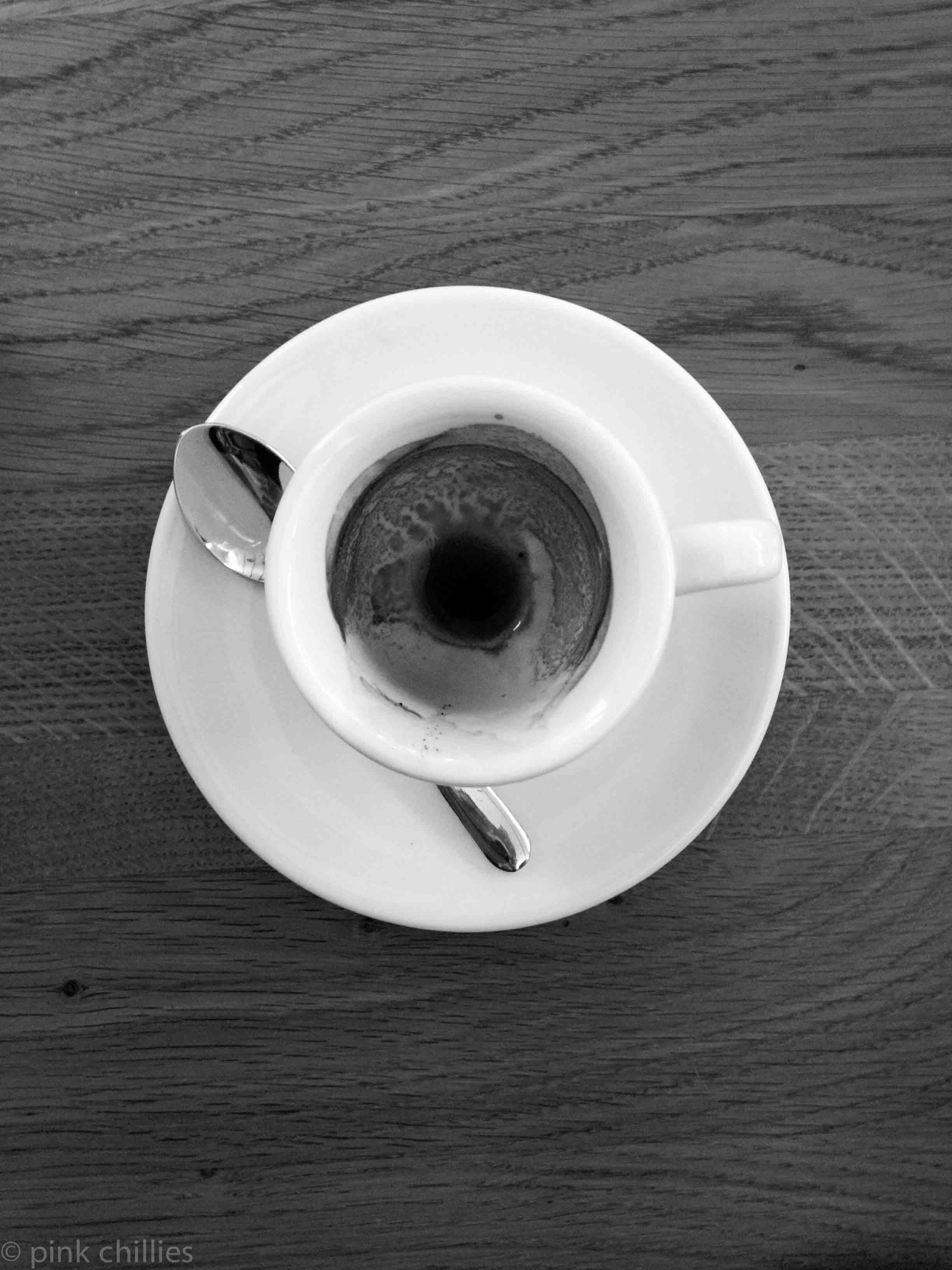 leere Espressotasse