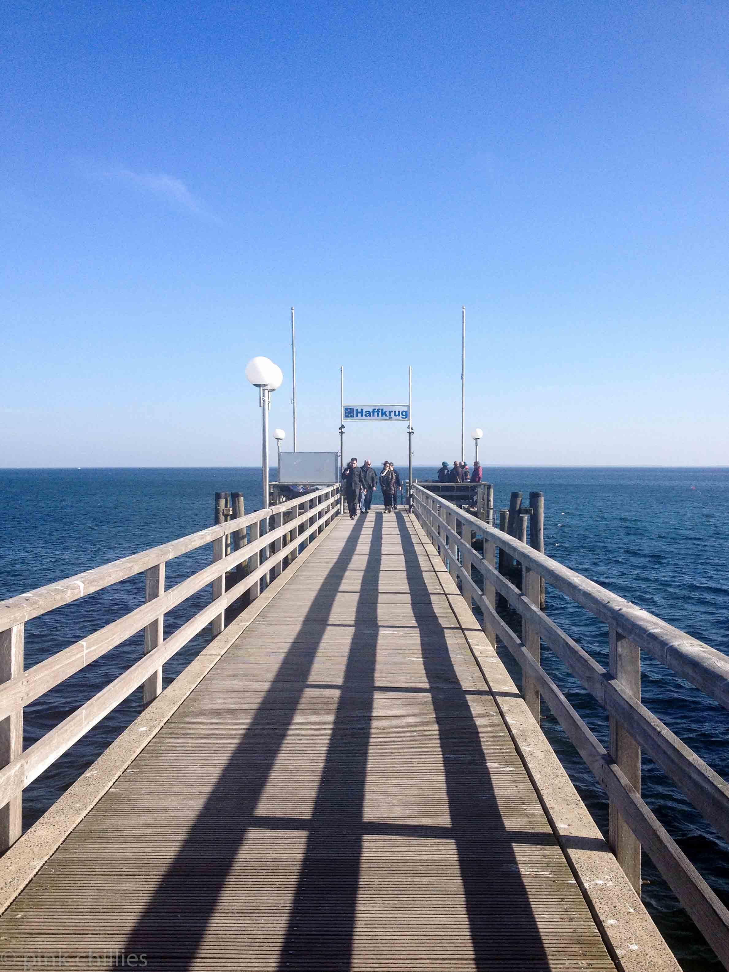 Schiffsanleger Haffkrug Ostsee
