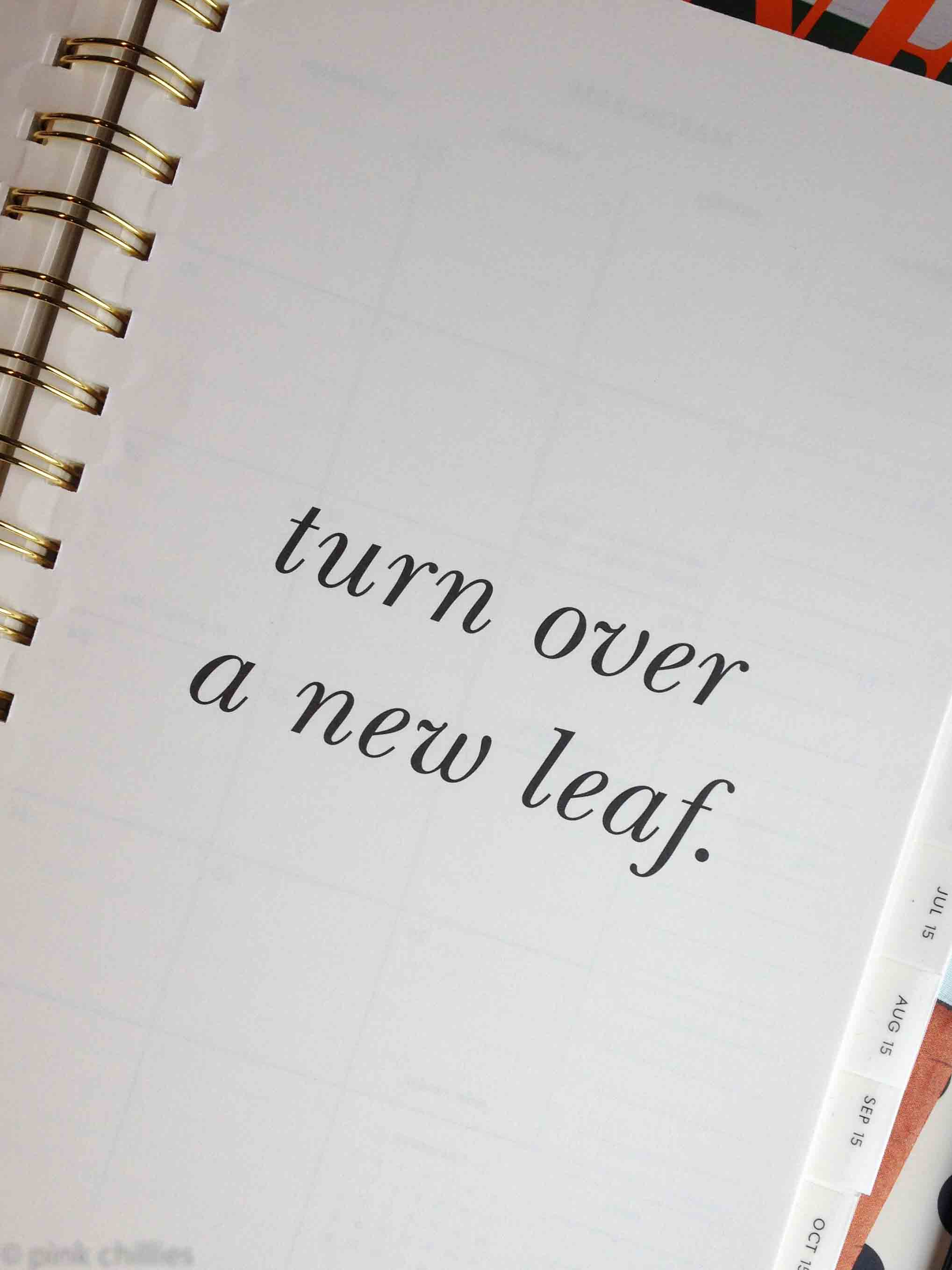turn over a new leaf