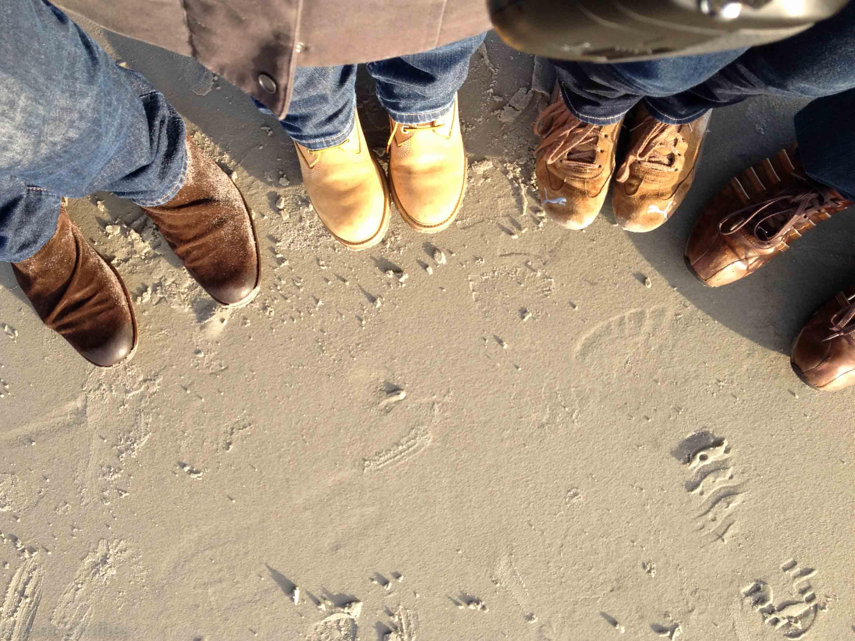 Schuhe im Strand