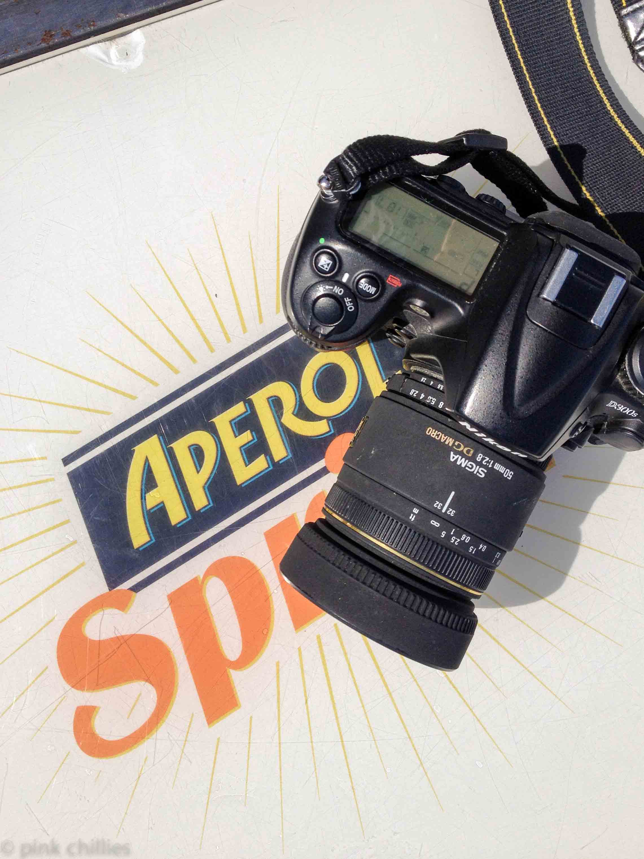 Nikon und Aperol SPritz