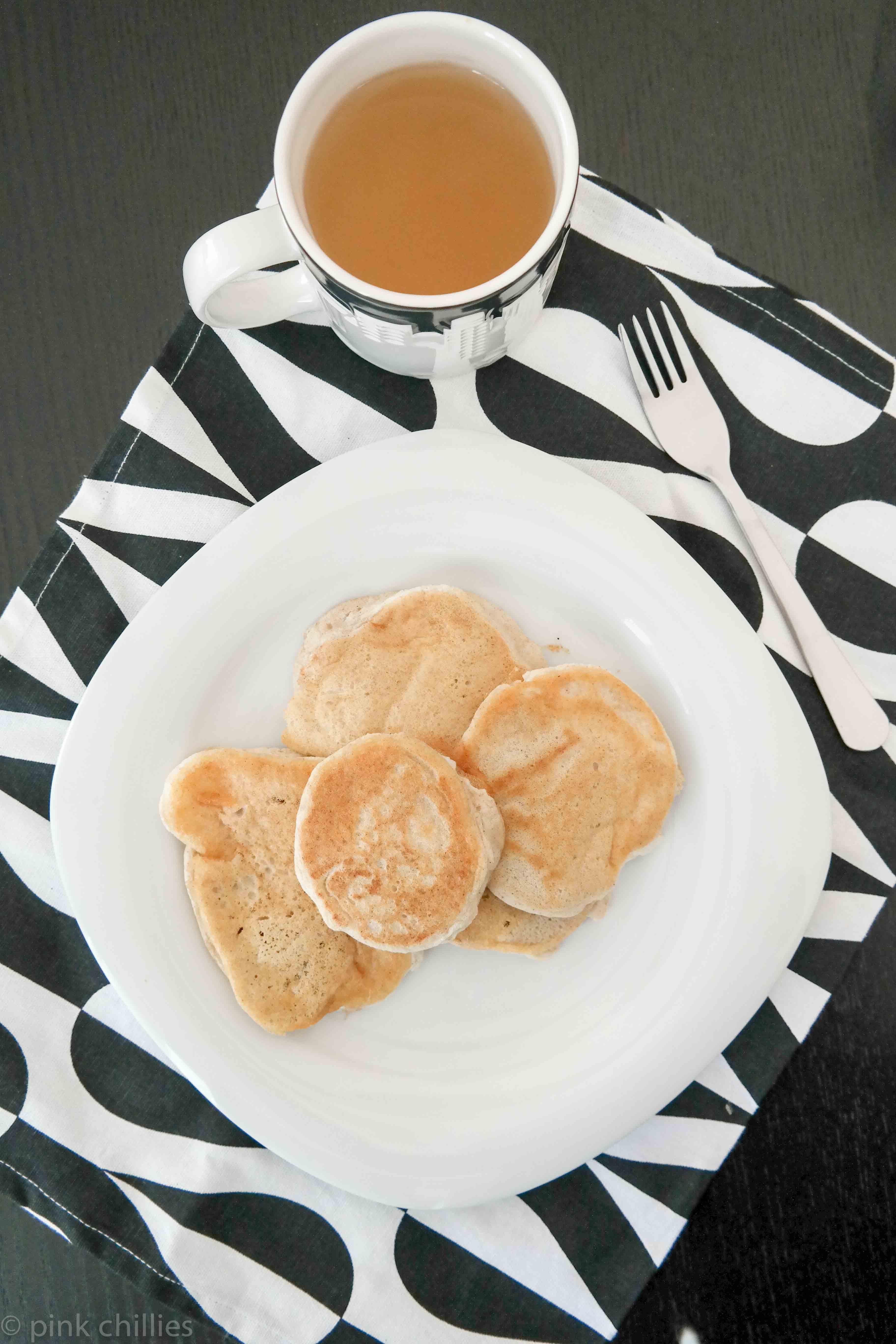 Pancakes und Tee