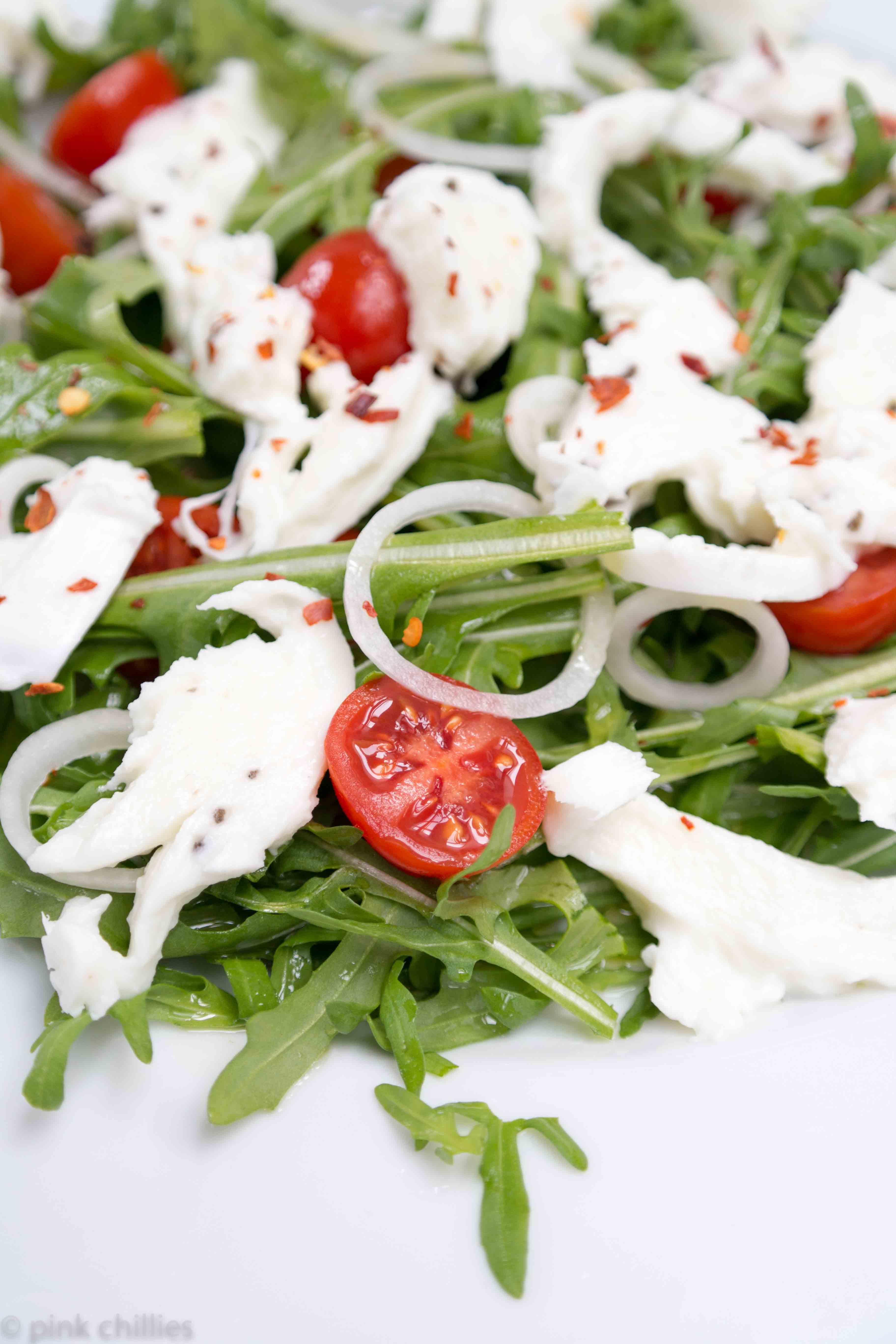 SAM_0064Trüffel Büffelmozarella mit Rucula und Tomaten