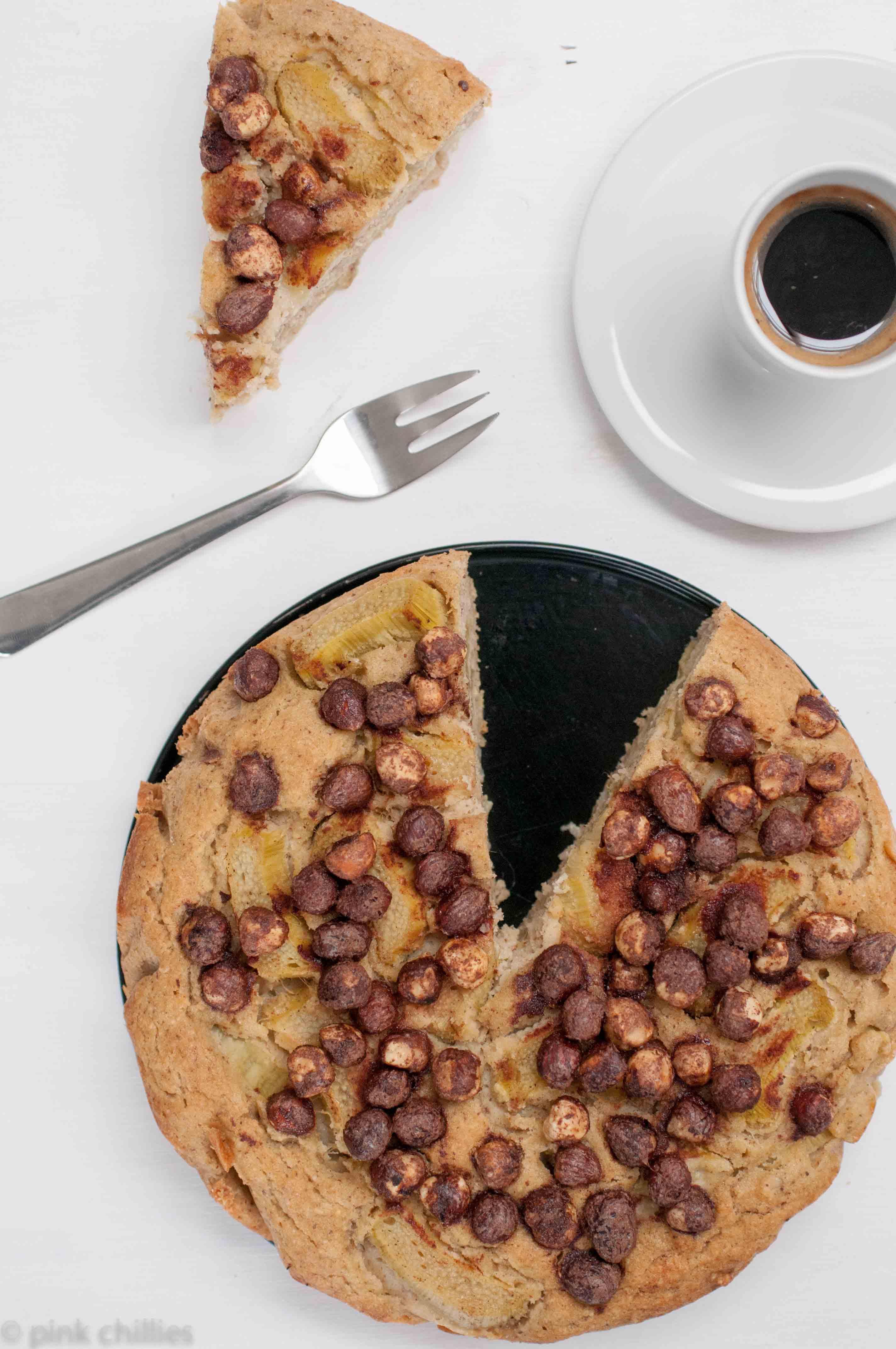 Haselnusskuchen mit Rharbaber-1412