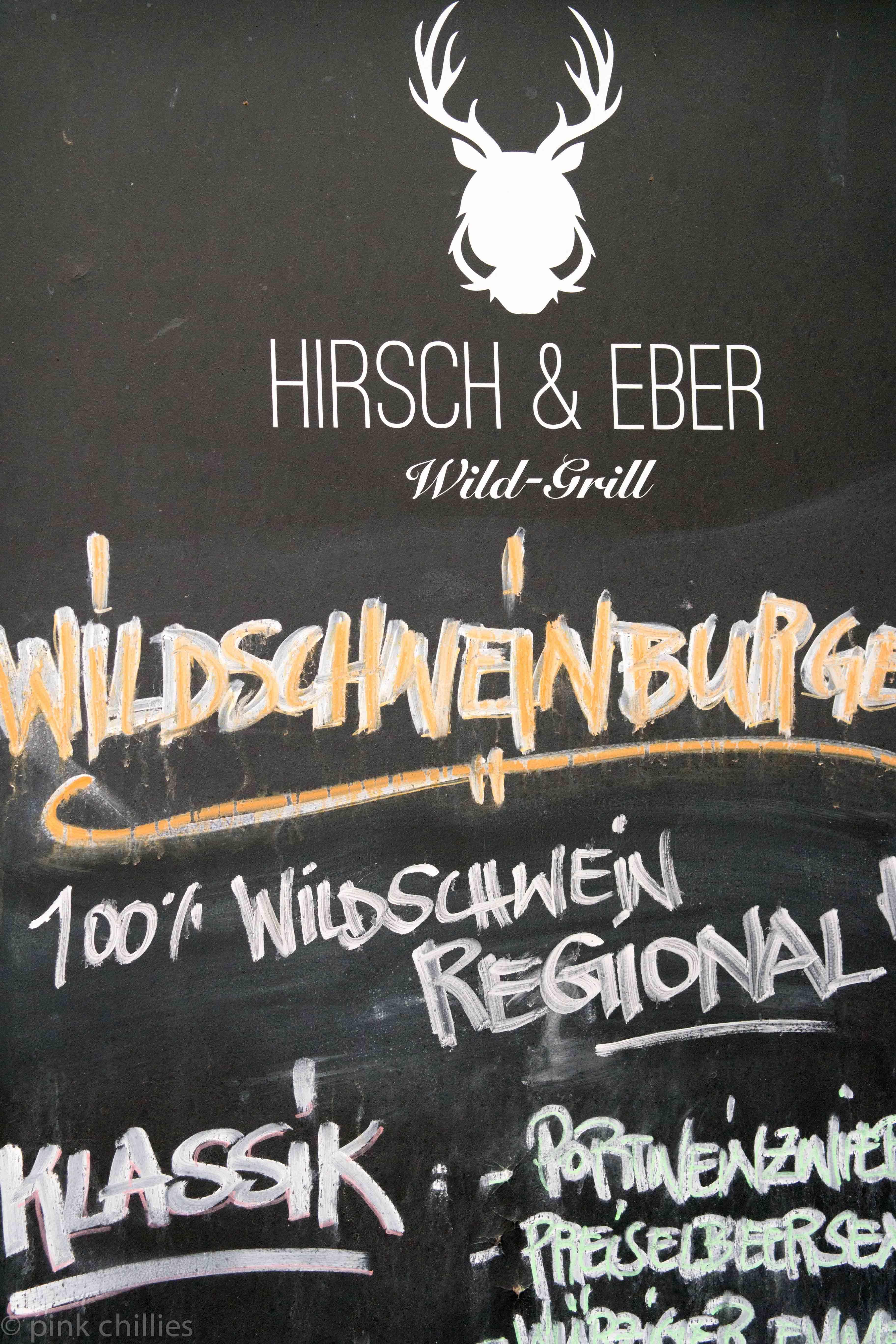 Hirsch und Eber Wildschweinburger-0196