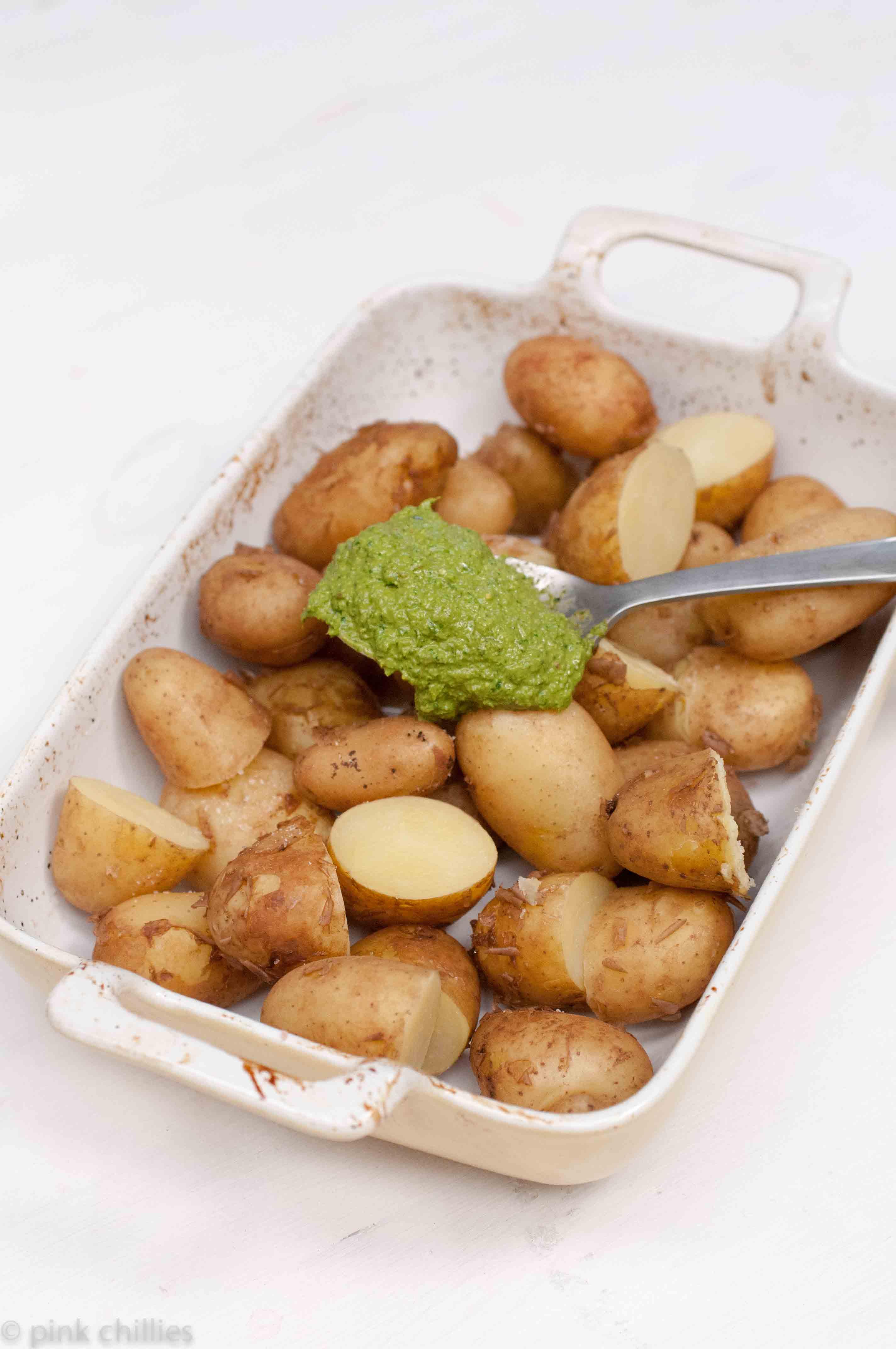 Kartoffeln mit Pesto