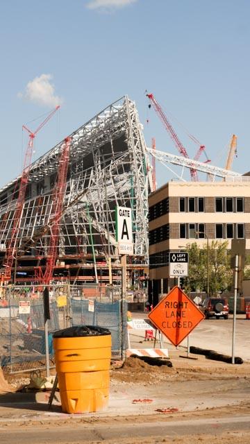 Bau des VIKING Stadion