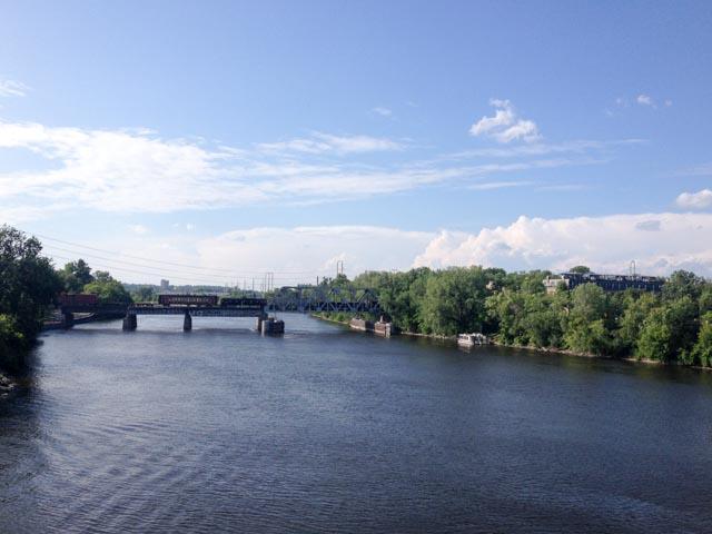 Eisenbahnbrücke über den Mississippi