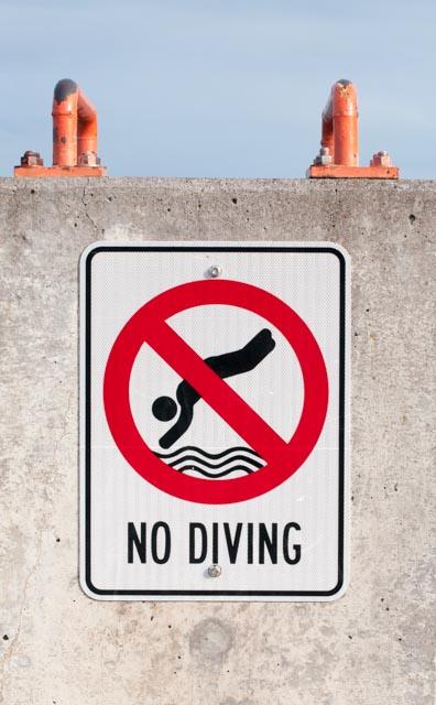 no diving-1927