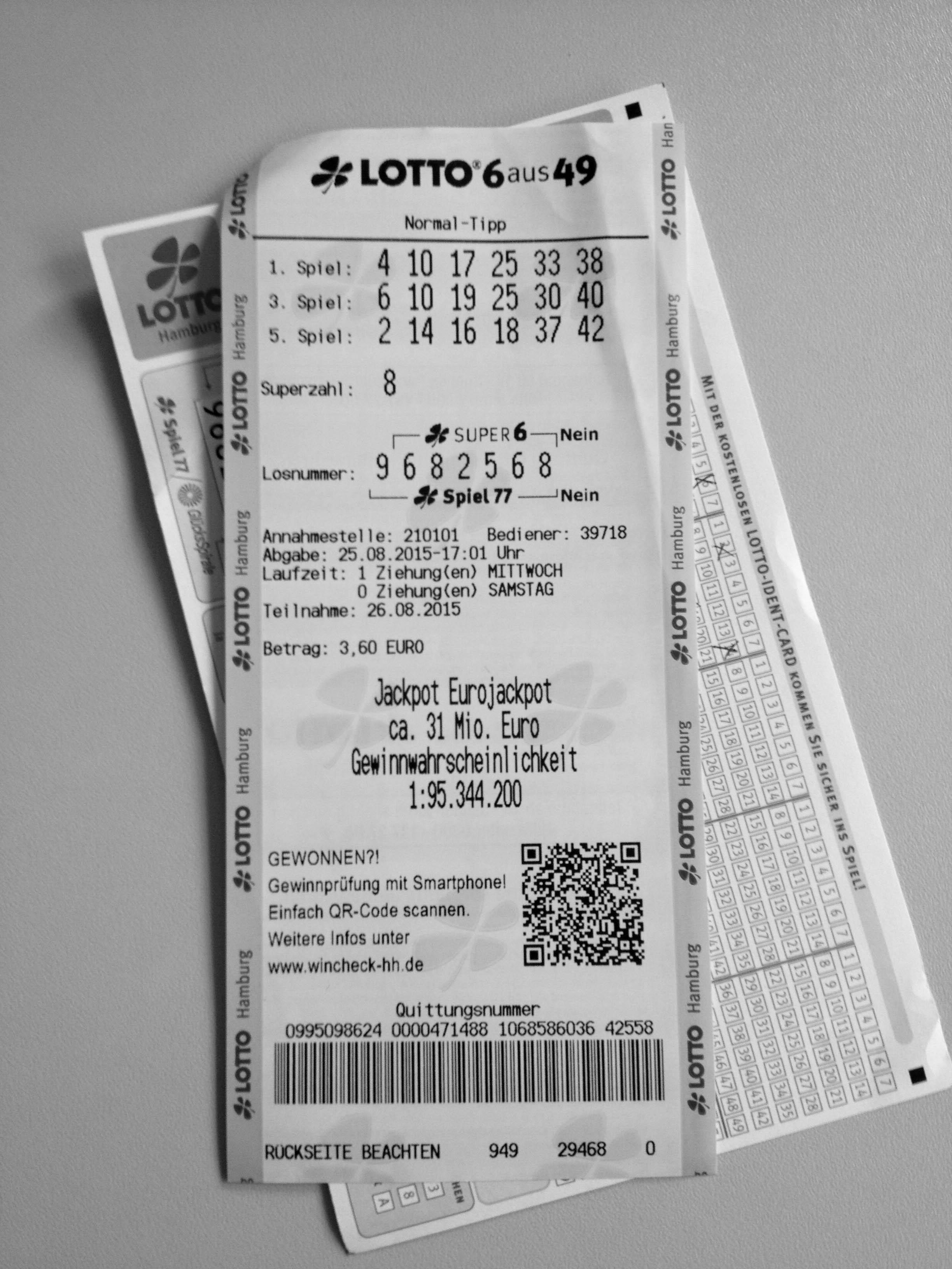 Lotto schein