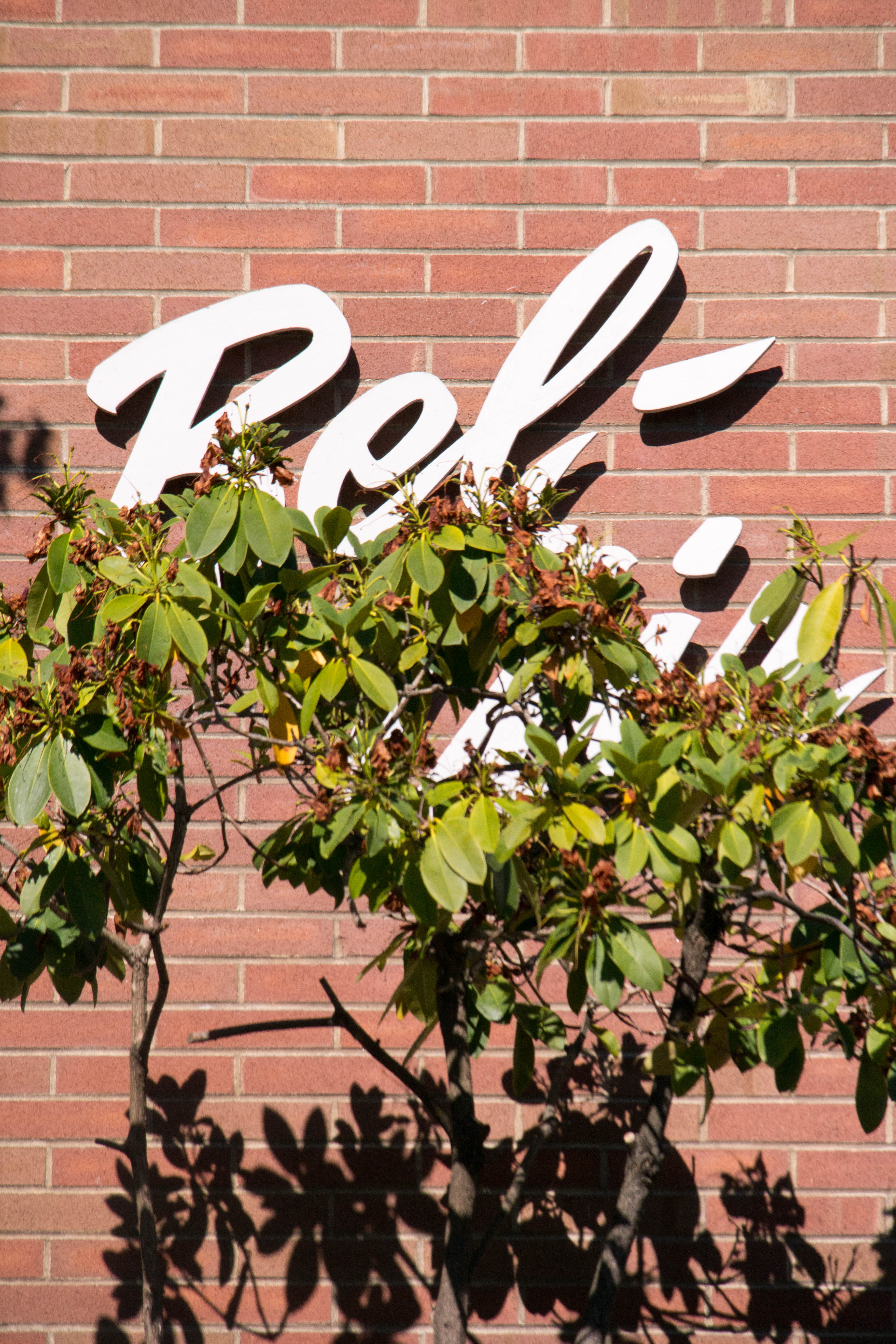 Schriftzug am Haus Bel Air Seattle