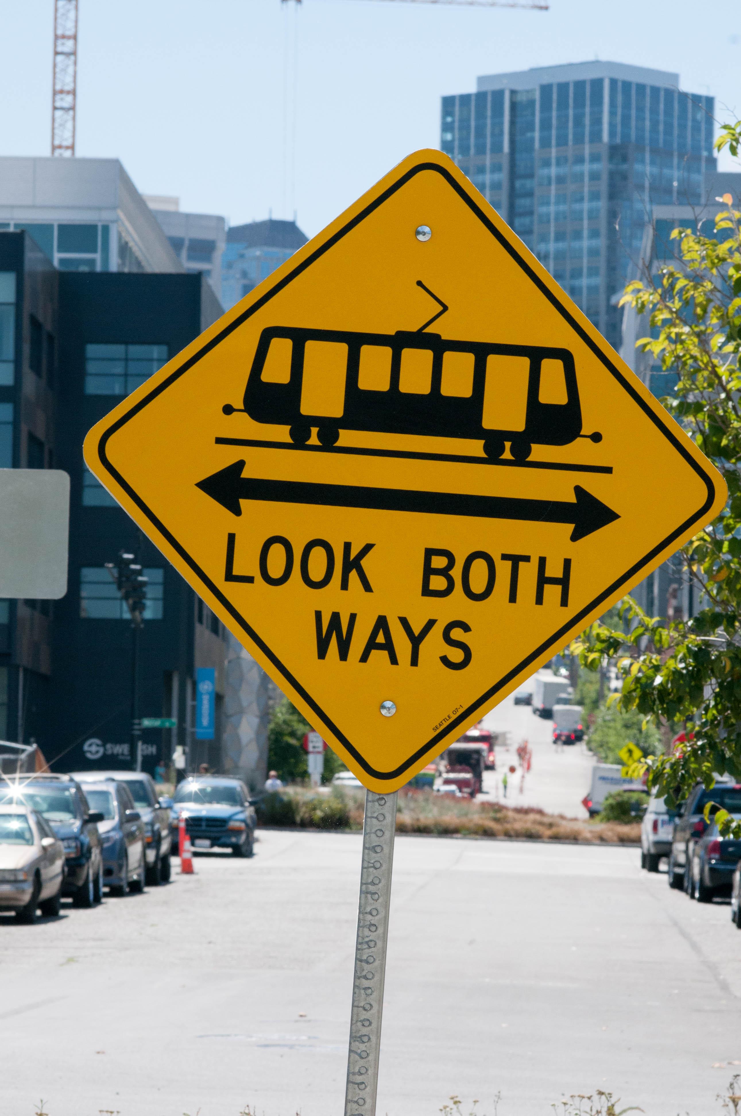 Street Sign Look Both Ways