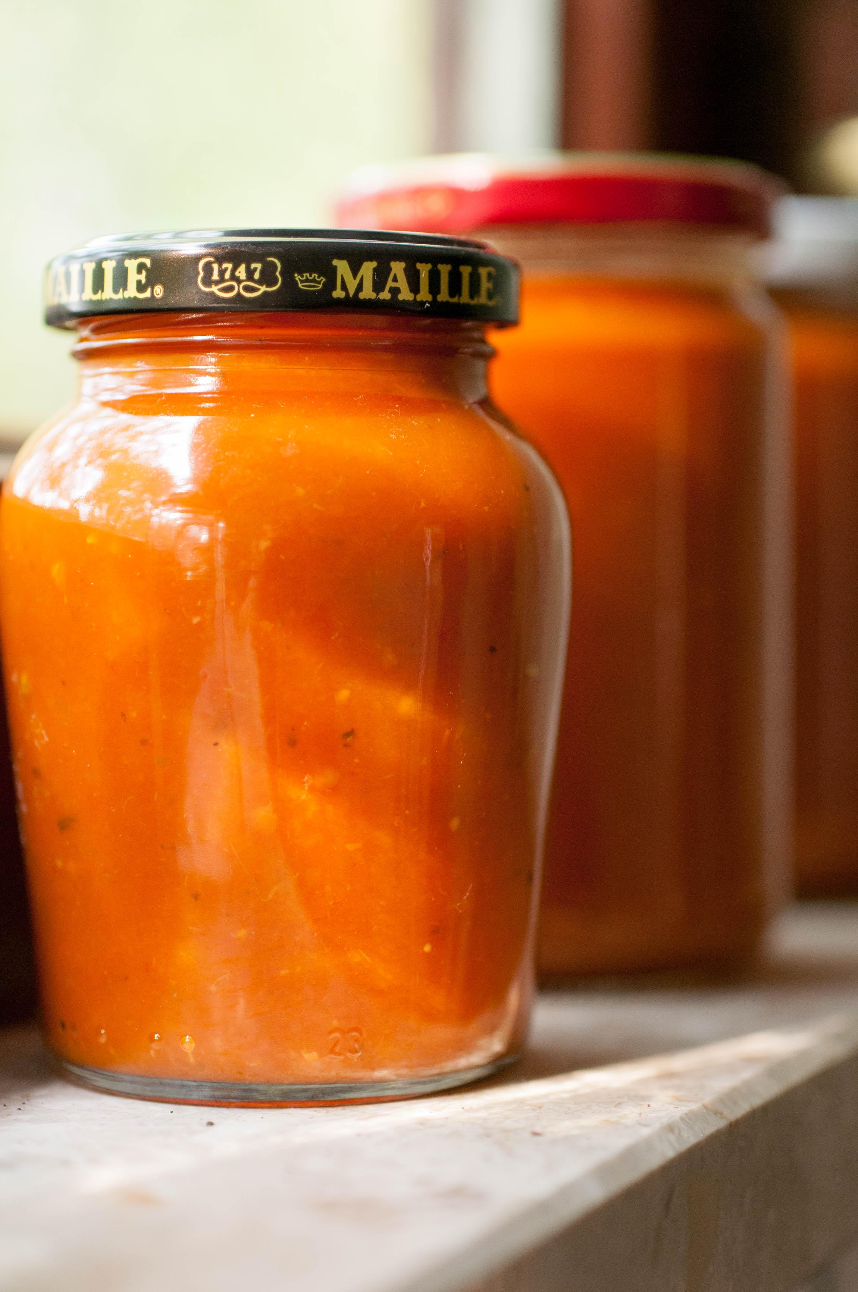 Tomatensoße eingekocht