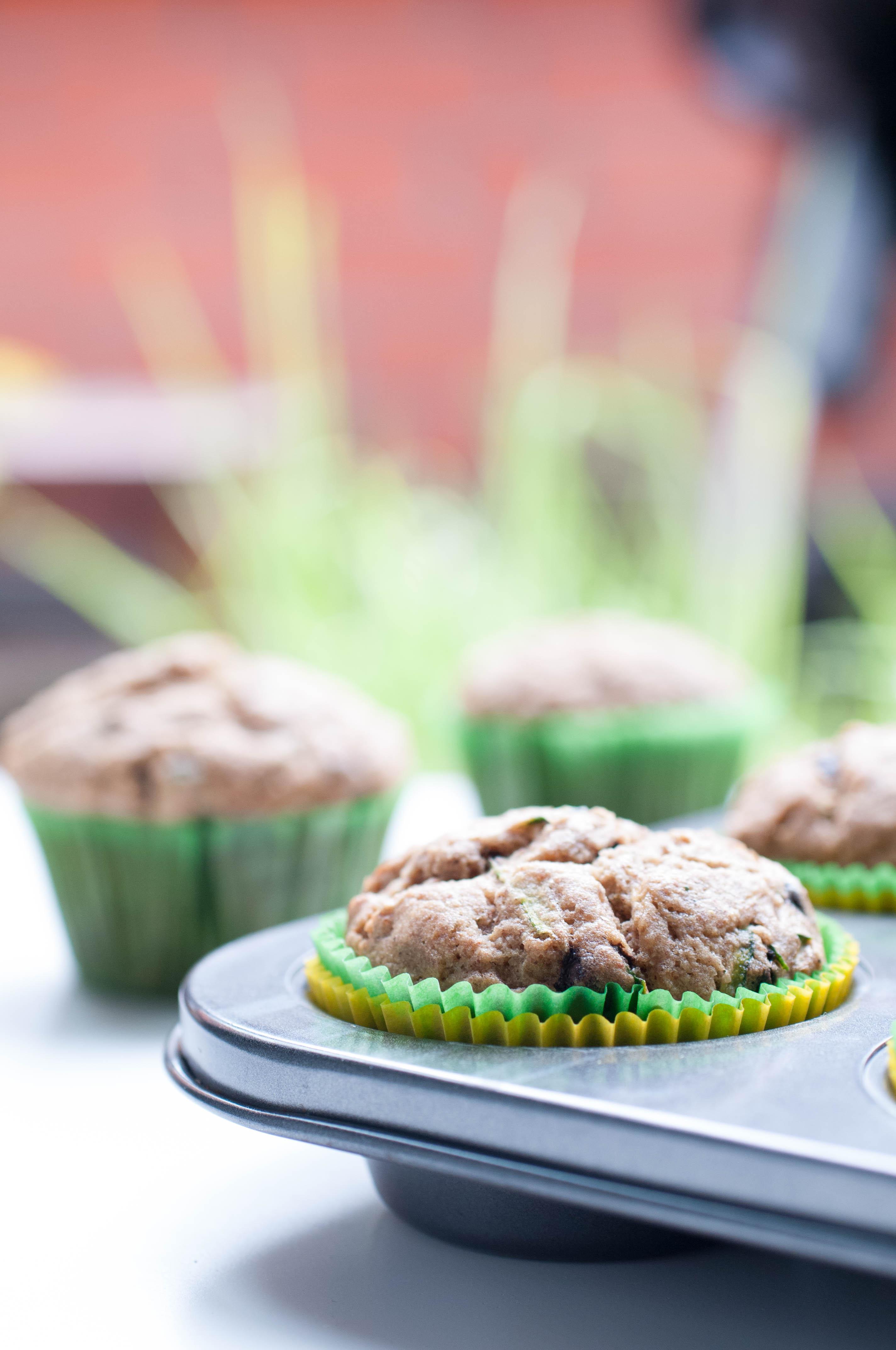 glutenfreie Zucchini Schokoladen Muffins