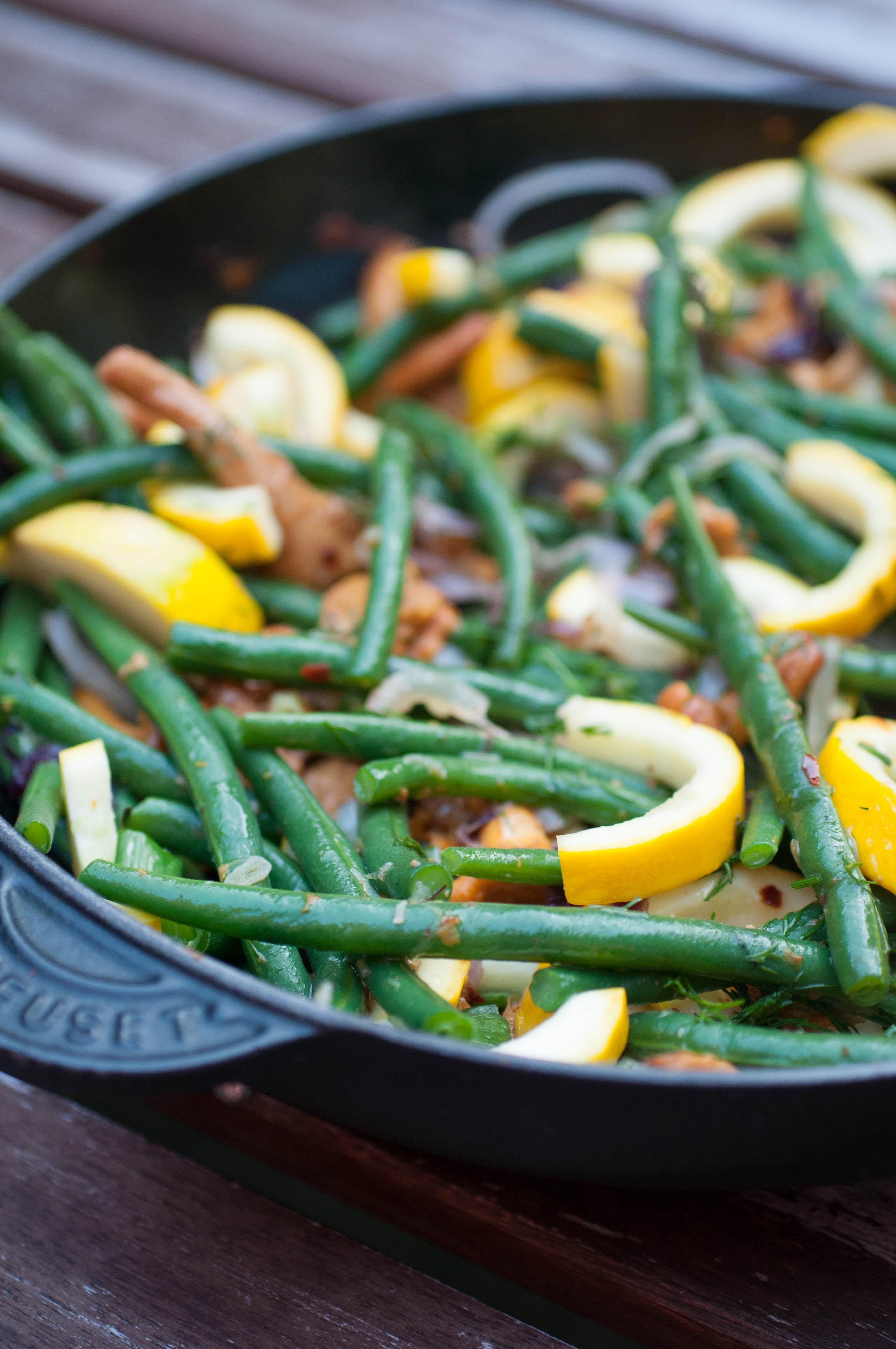 Bohnen Zucchini Pfanne